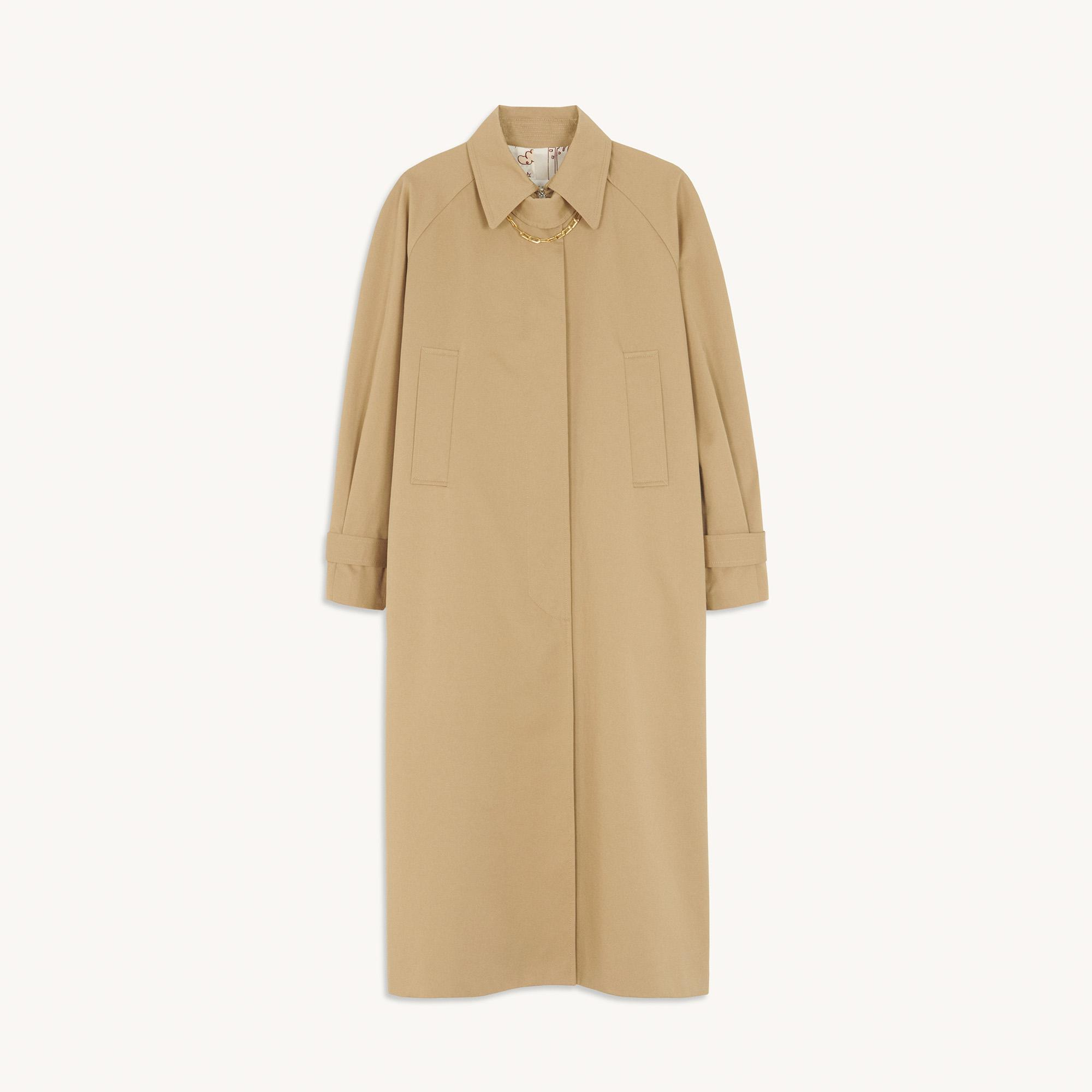 Cotton trench coat with detachable chain 5