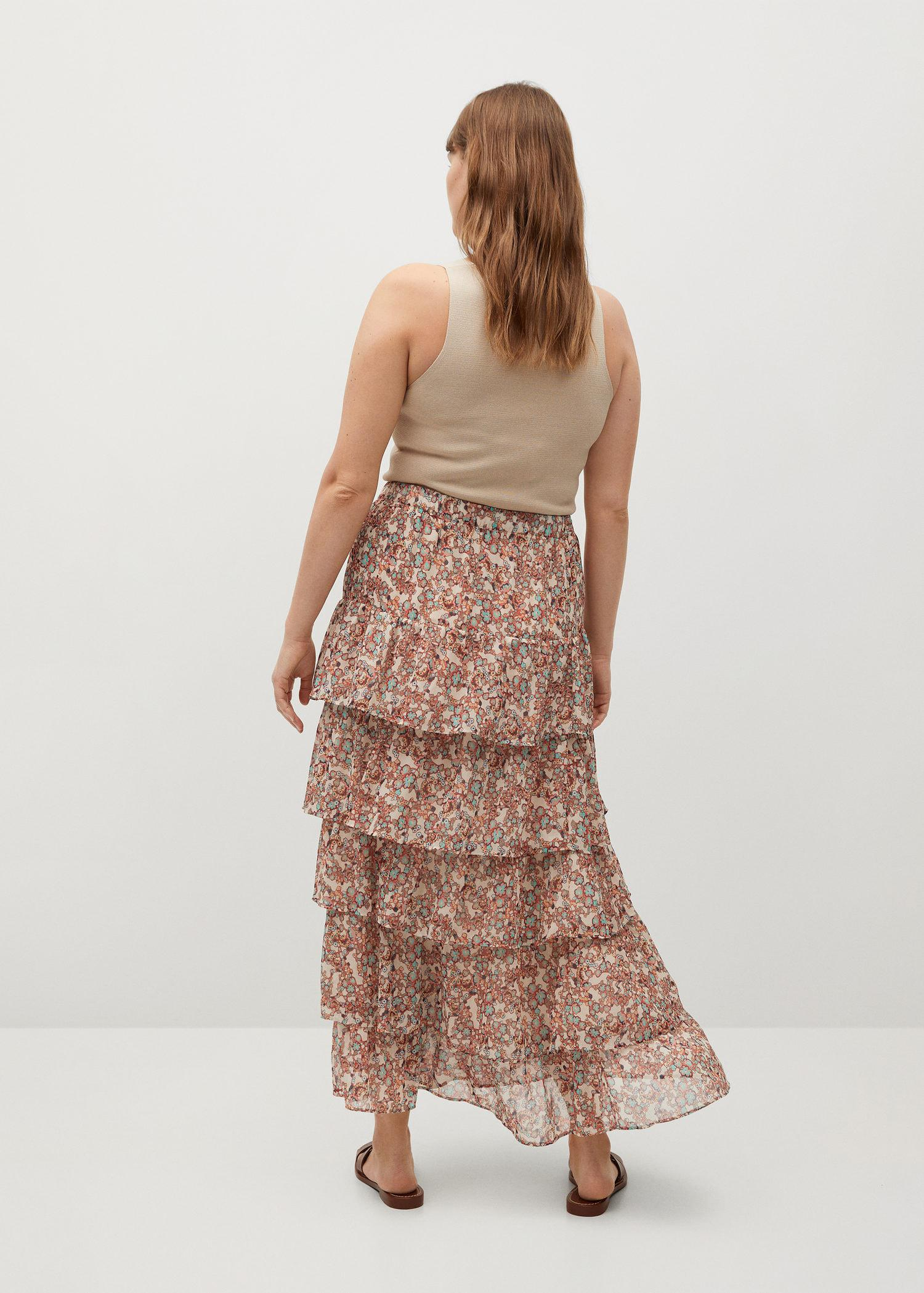 Printed skirt with ruffles 2