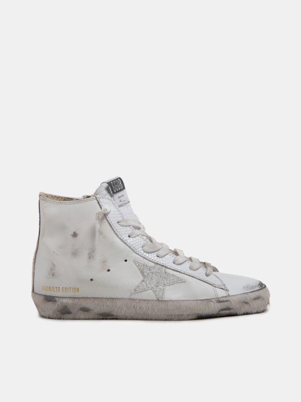 Women's LAB Limited Edition white and glitter Francy sneakers