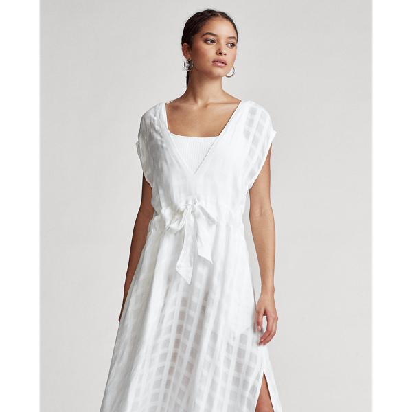 Plaid Woven Cover-Up Dress