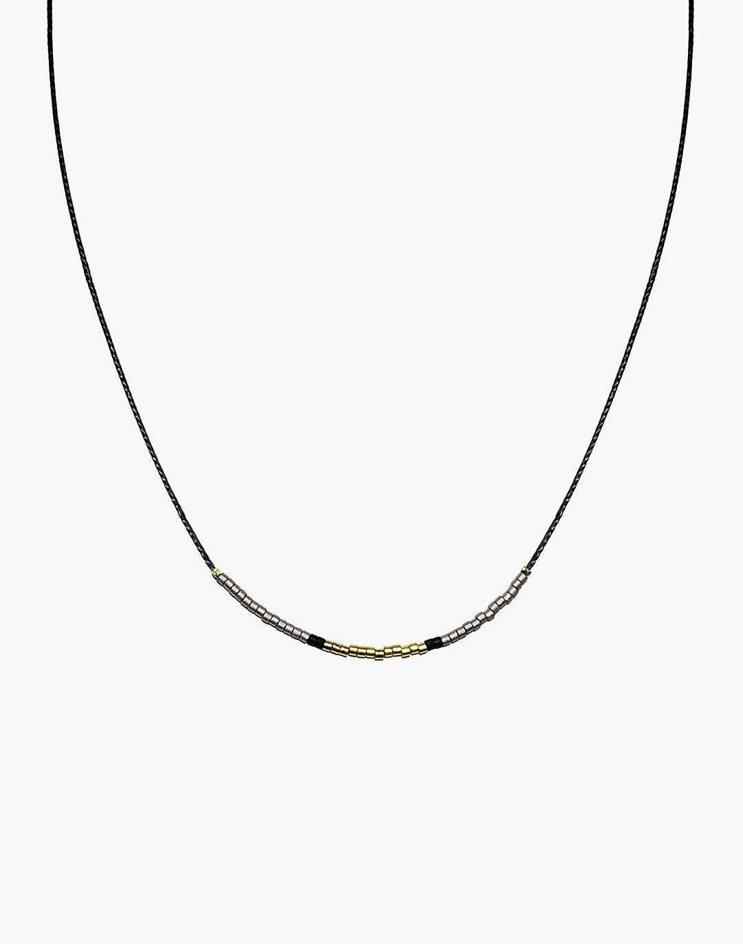 Cast of Stones Beaded Intention Necklace in Gold and Silver