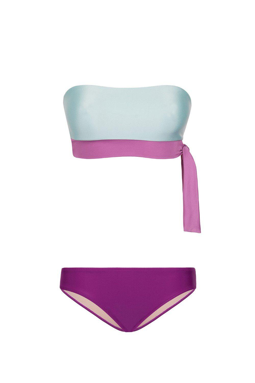 Cinque Terre Strapless Bikini with Knot Detail 3