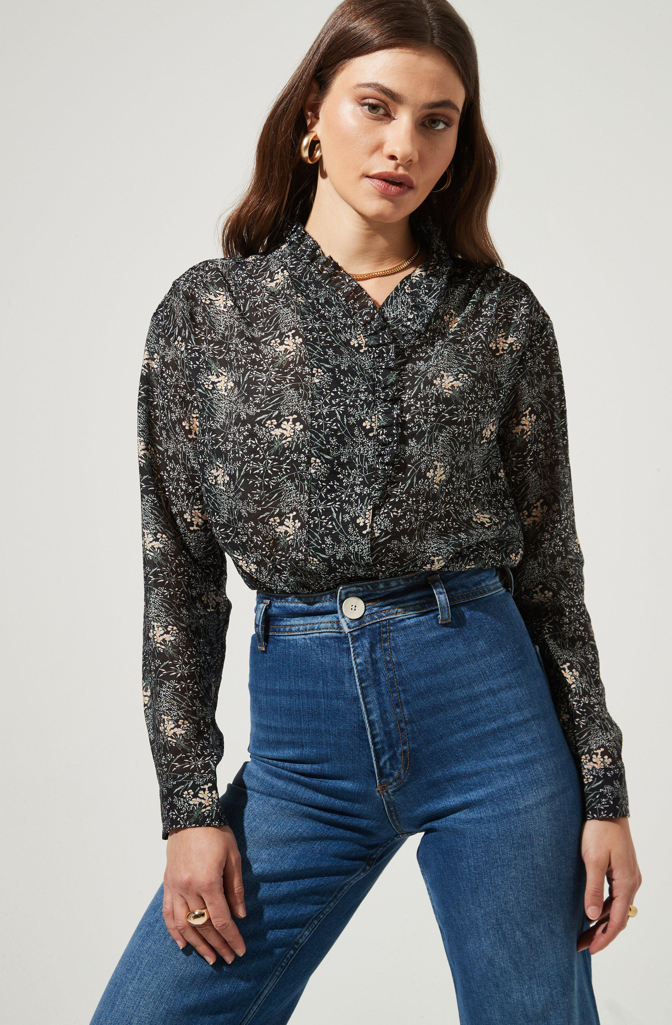 Dear To Me Floral Button Up Top