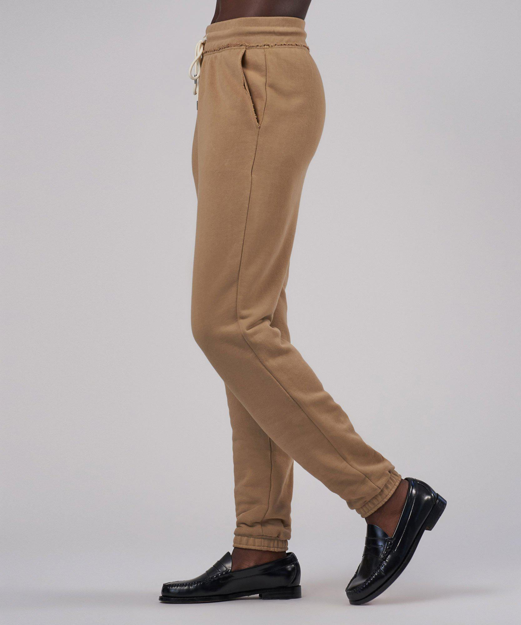 French Terry Pull-On Pant - Dune 1