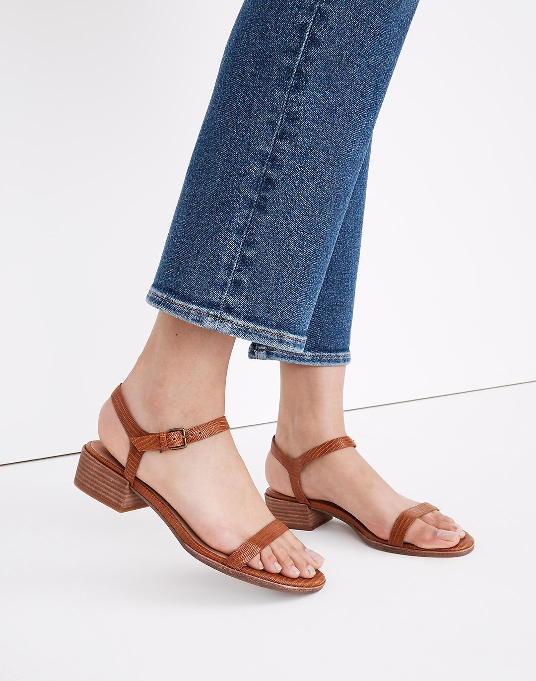The Louise Sandal in Lizard Embossed Leather 3