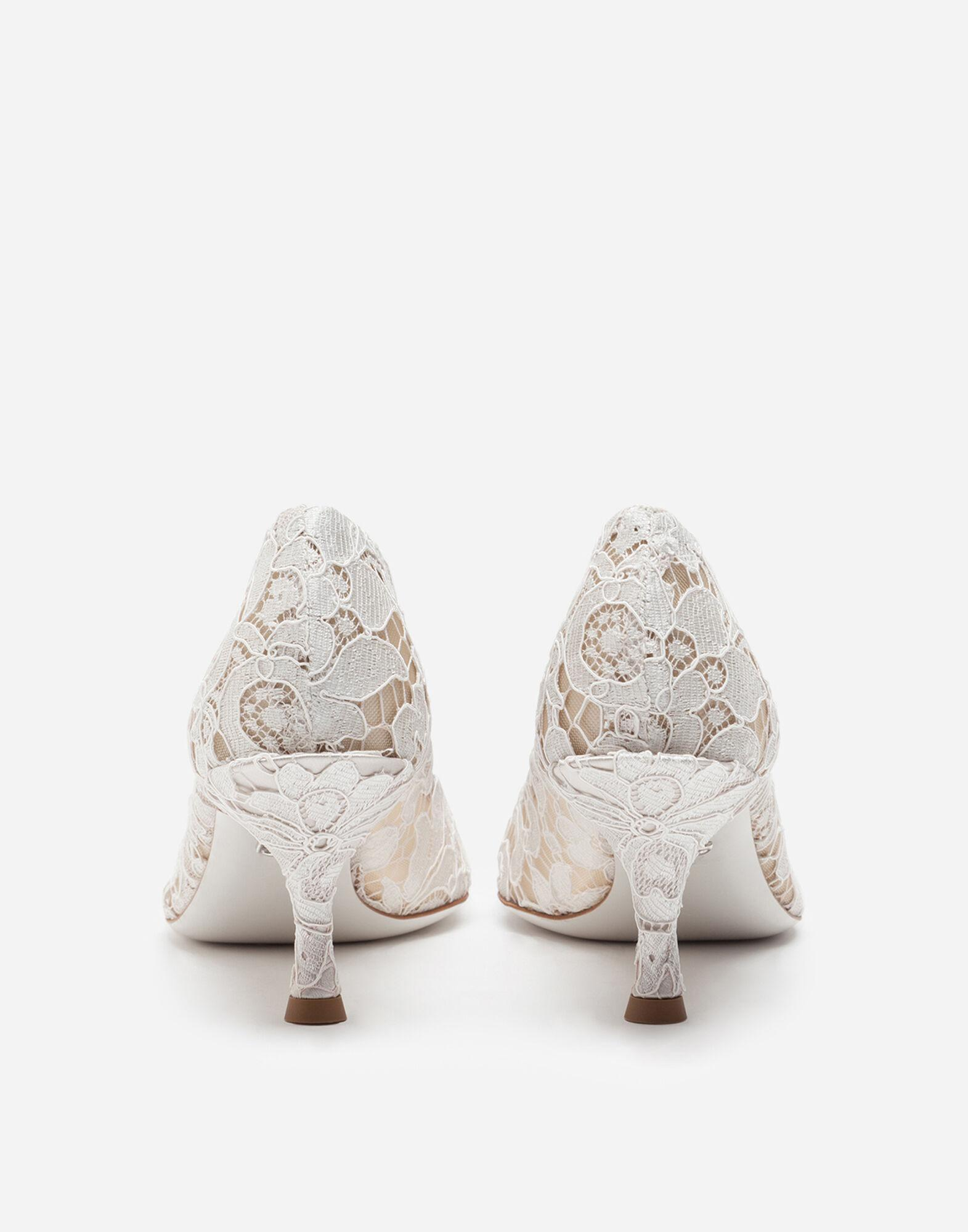 Taormina lace pumps with DG Amore logo 2