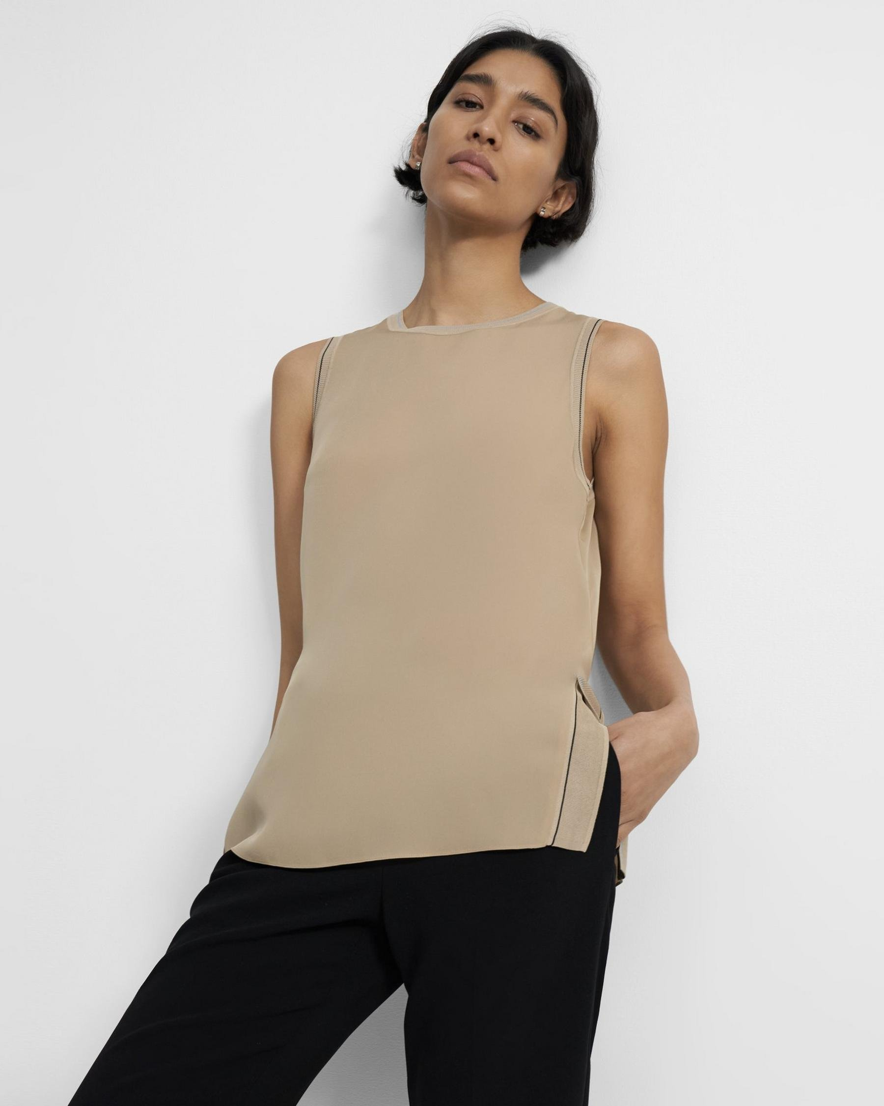 Combo Shell Top in Silk