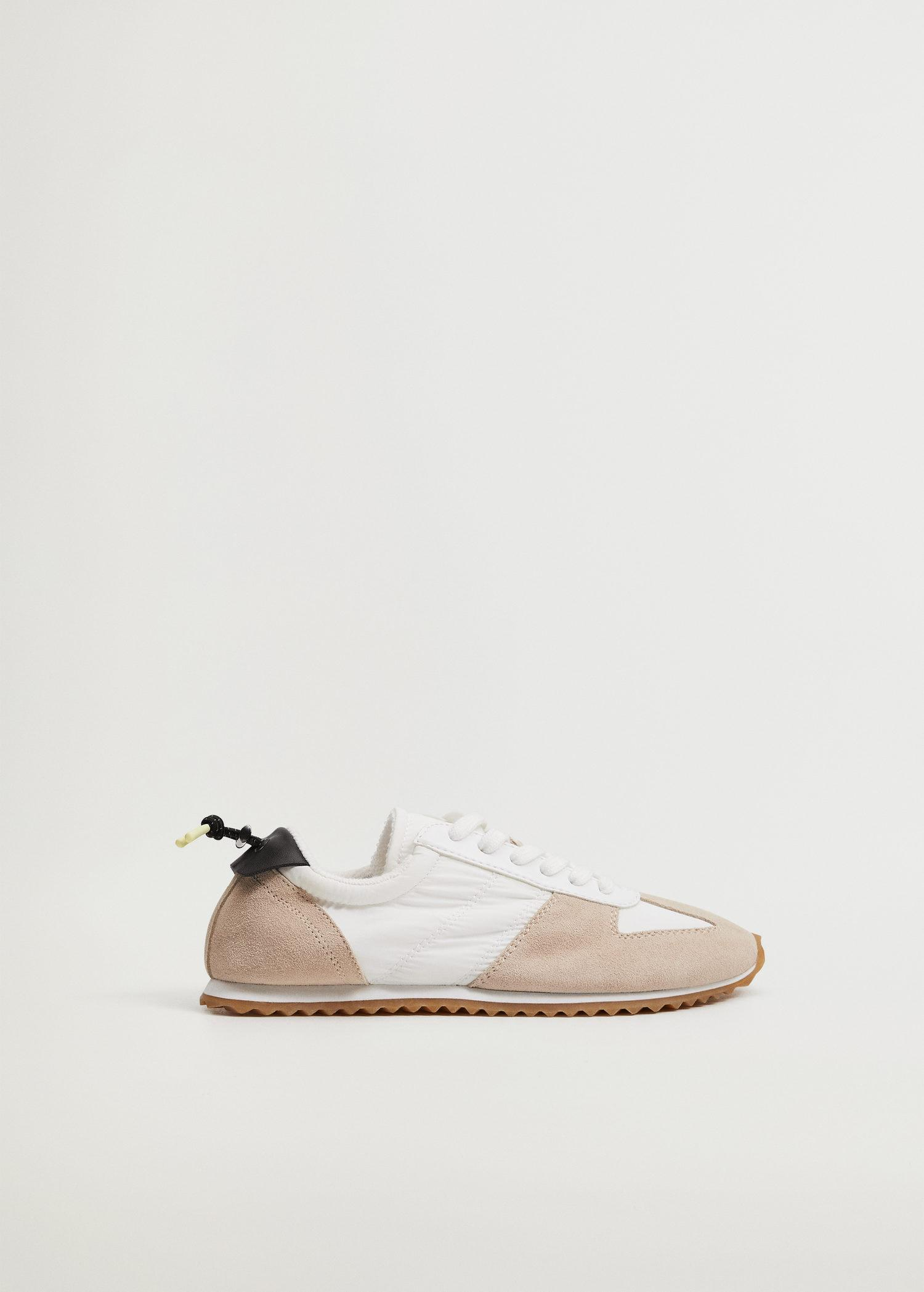 Leather mixed sneakers