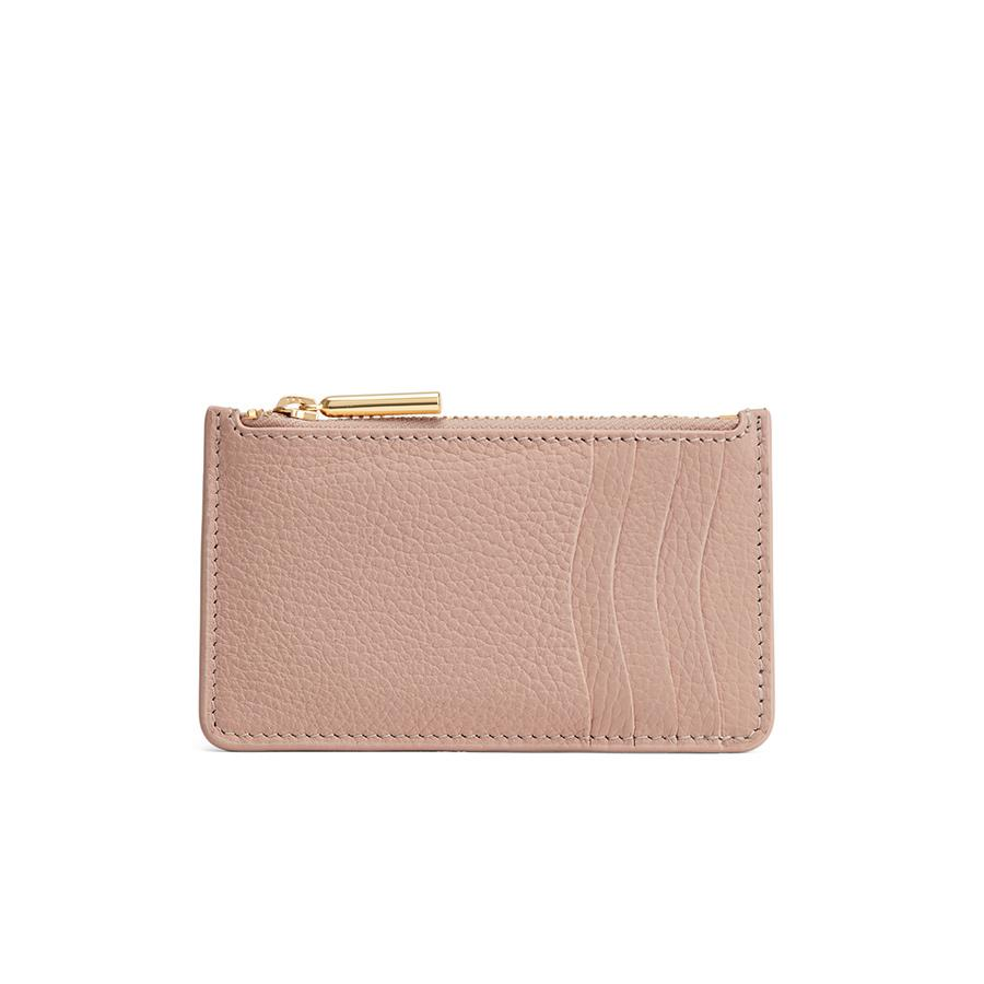 Women's Zip Cardholder in Soft Rose | Pebbled Leather by Cuyana