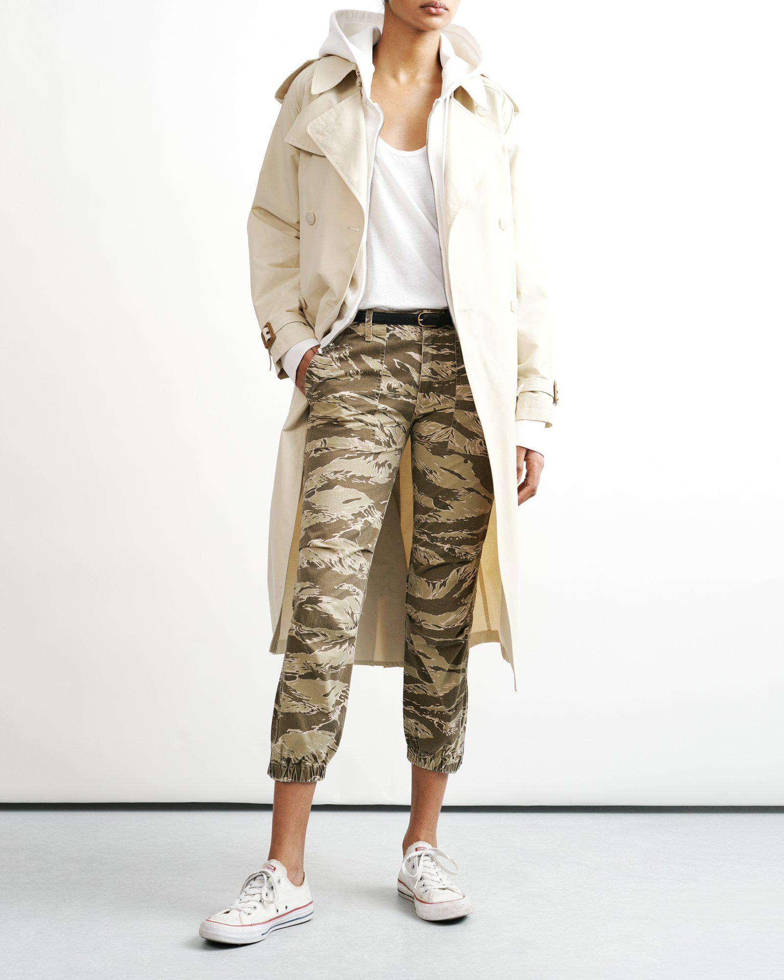 LIGHT CAMOUFLAGE CROPPED MILITARY PANT