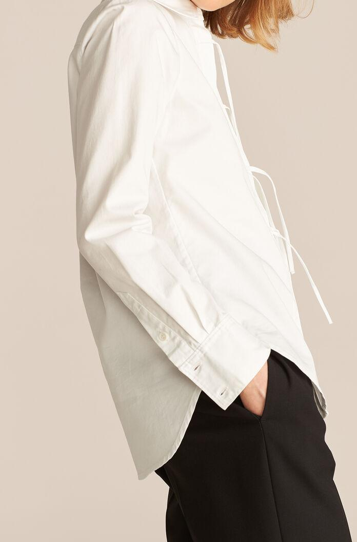 LONG SLEEVE COMPACT TWILL BLOUSE 1