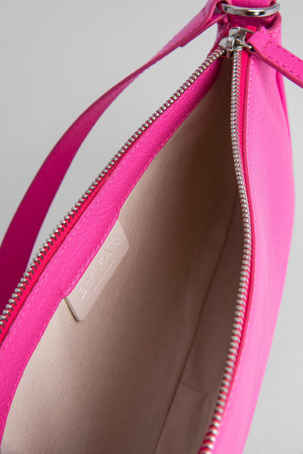 Rachel Hot Pink Grained Leather 3