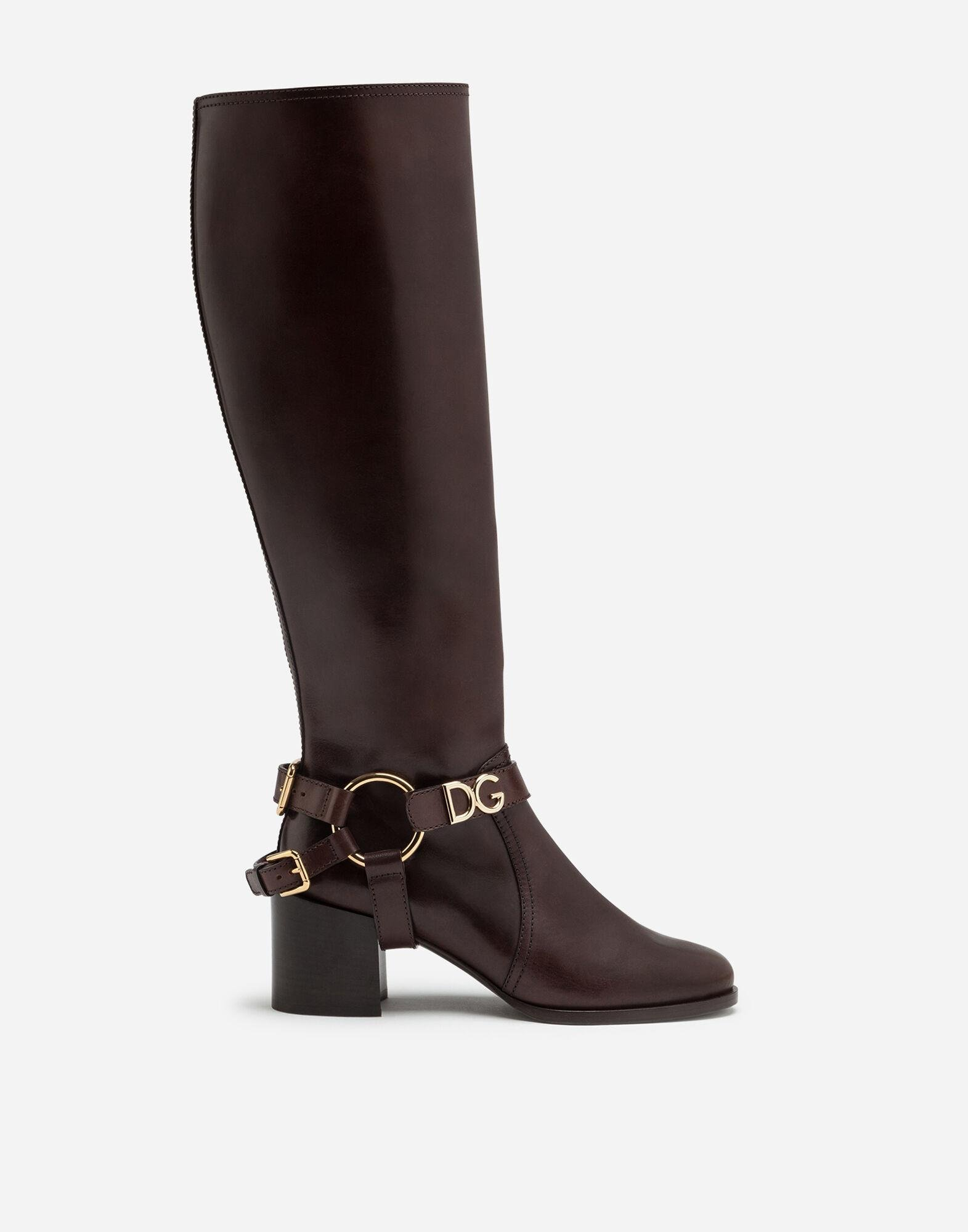 Boots in cowhide with DG bracket logo