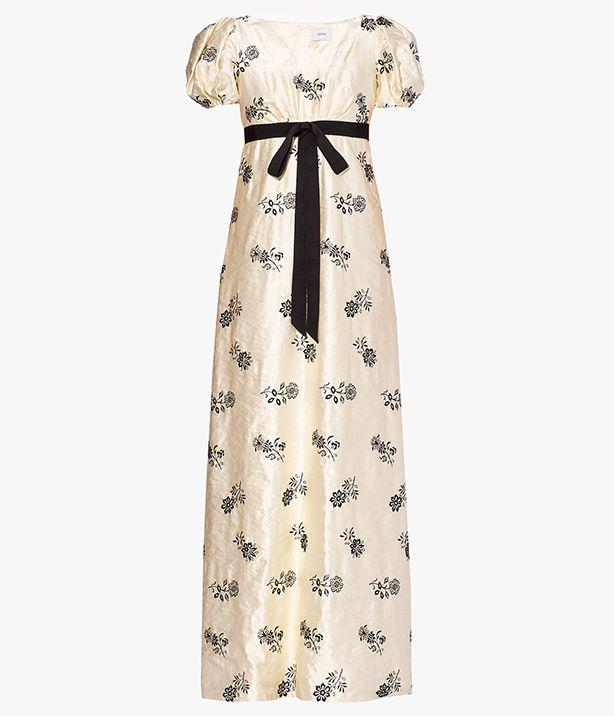 Leonore Gown Floral Embroidered Satin 4