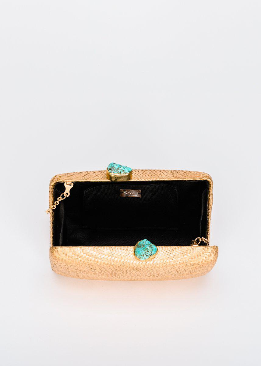 Jen clutch with Turquoise Stone 1