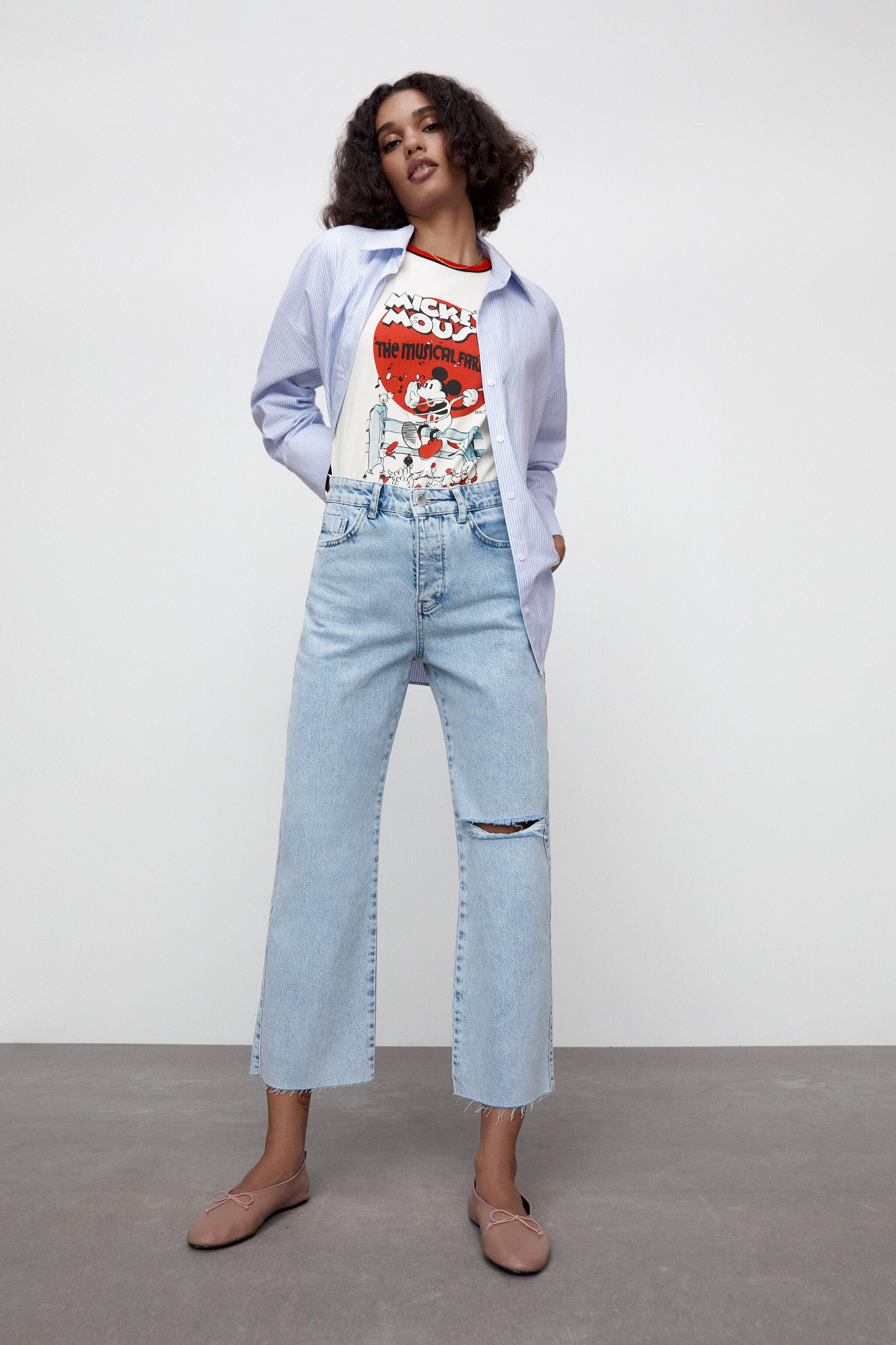 RIPPED STRAIGHT LEG Z1975 HIGH RISE JEANS