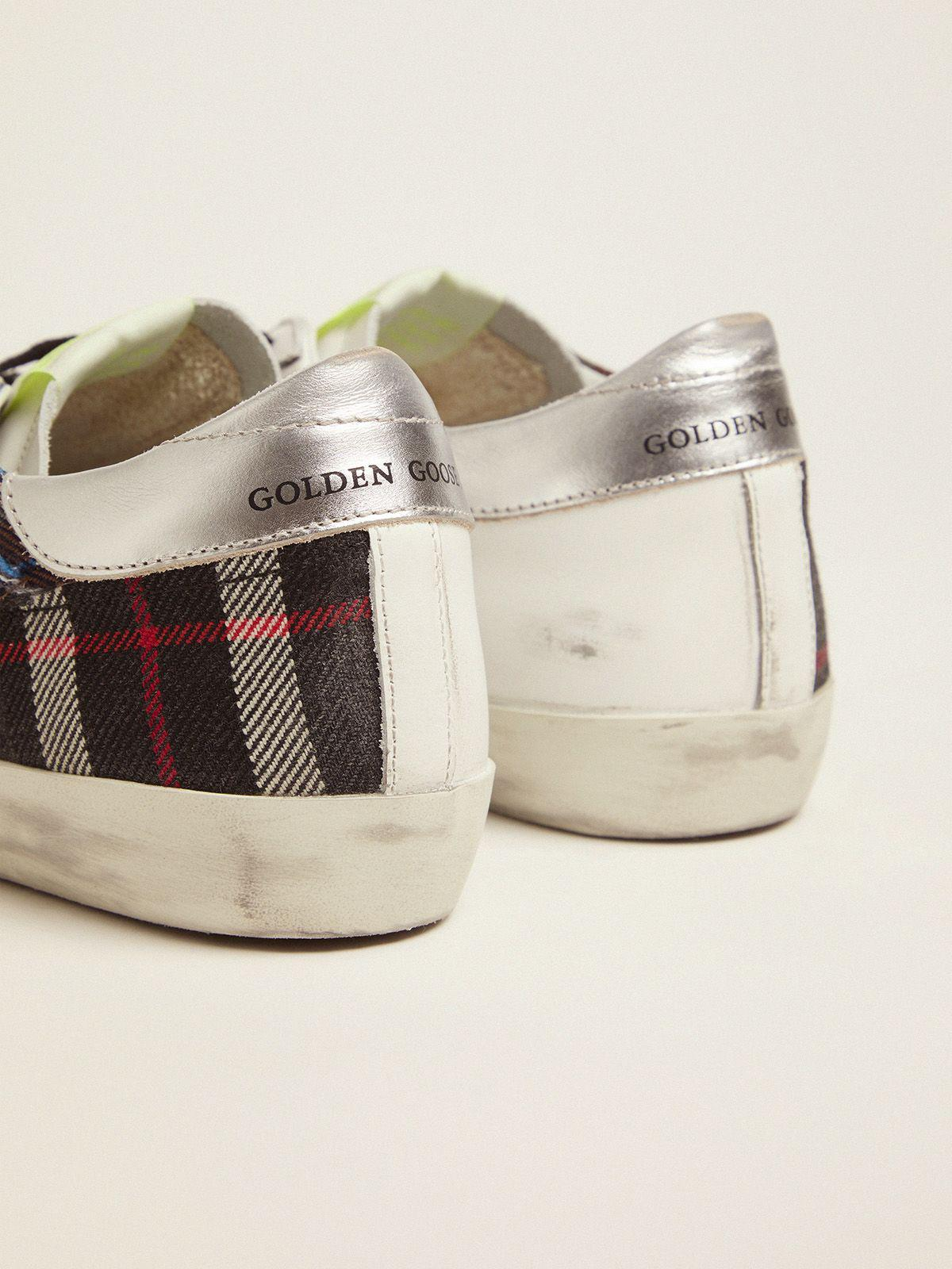 Women's Limited Edition LAB white Super-Star sneakers with tartan insert 3