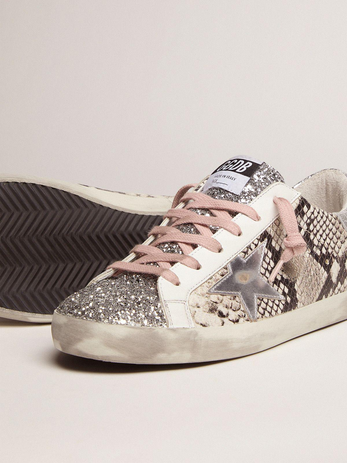 Super-Star LTD sneakers with snake print and glitter 2