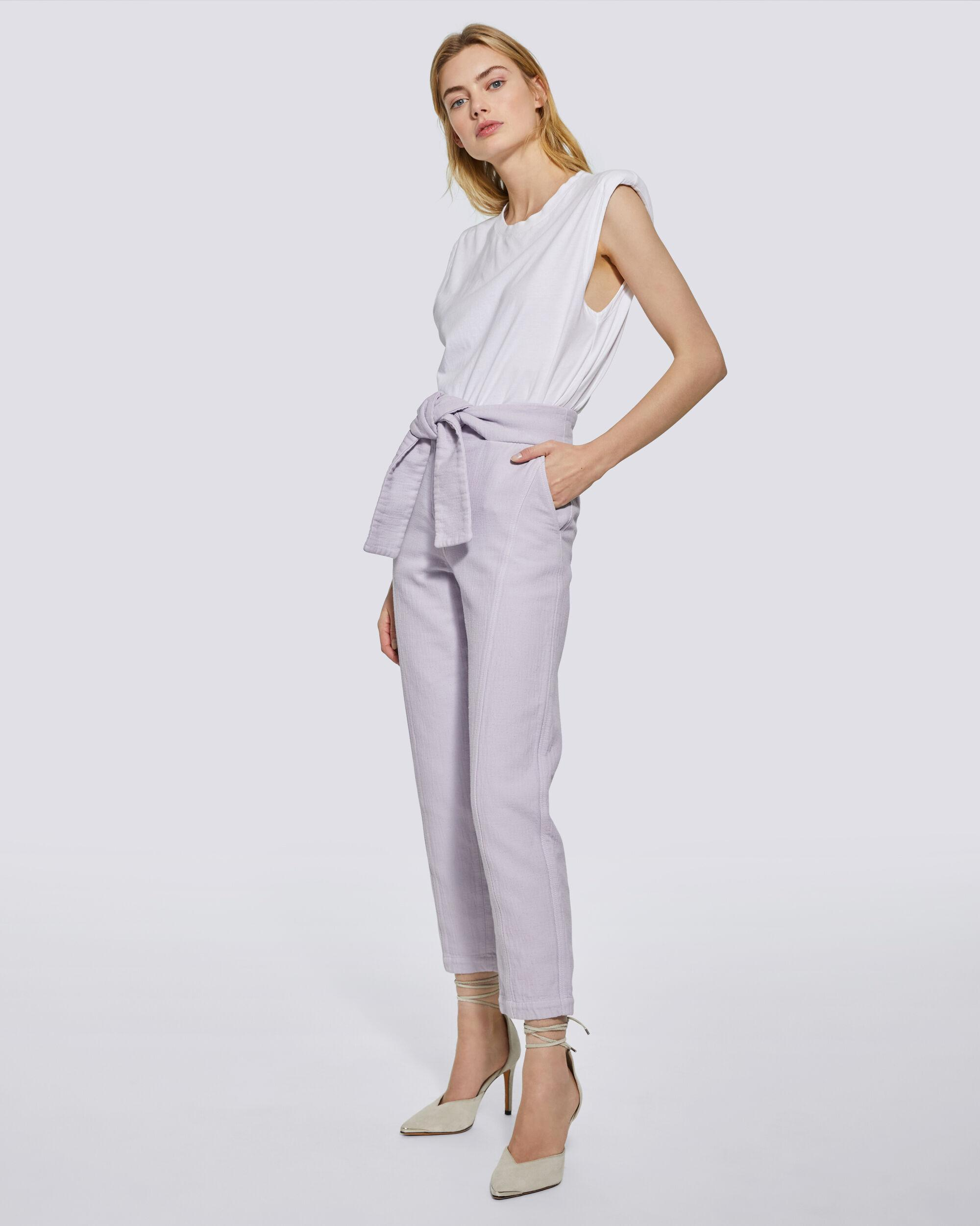 LUKLANE CROPPED PAPERBAG TROUSERS