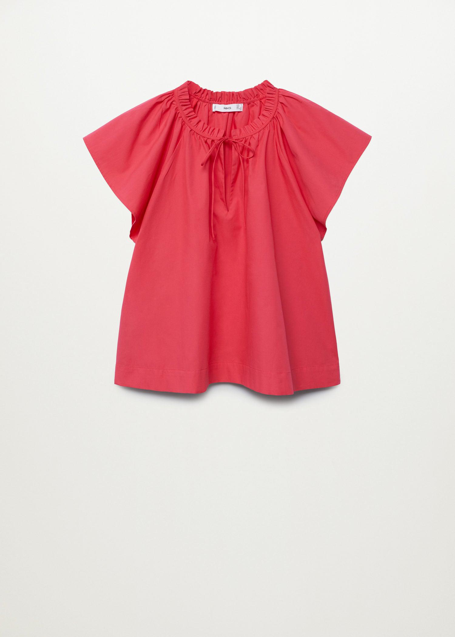 Ruched neck blouse 7