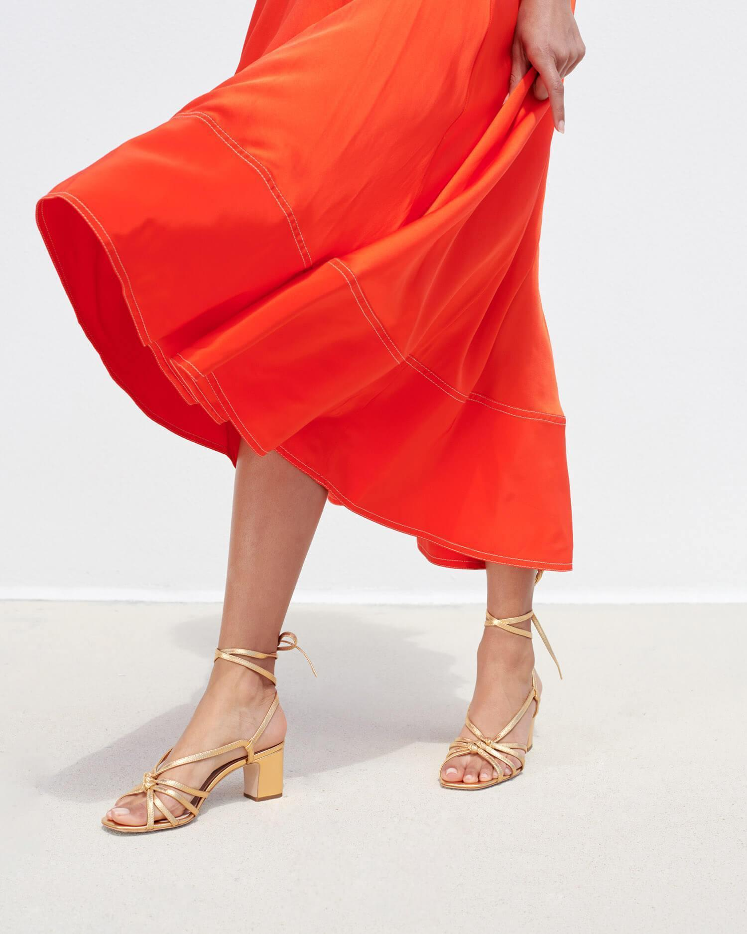 Libby Knotted Wrap Sandal Gold 3