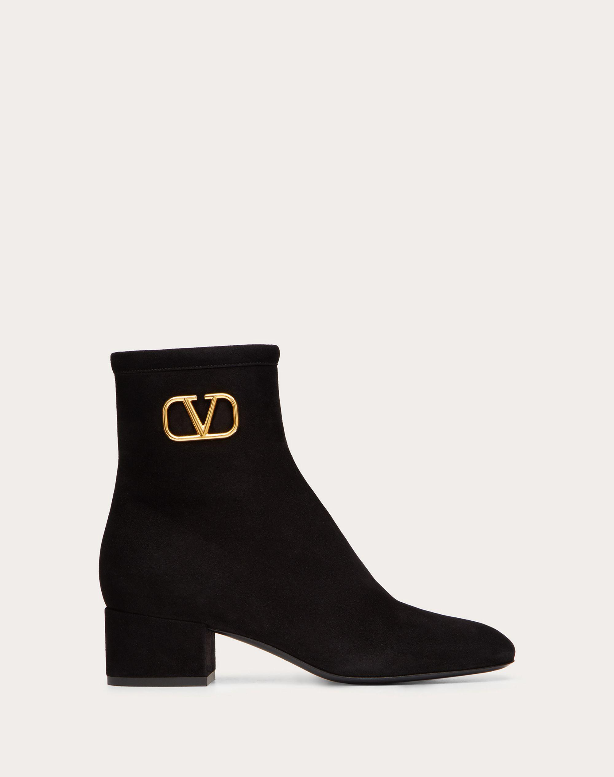 VLogo Signature Suede Ankle Boot 45mm / 1.8 in.