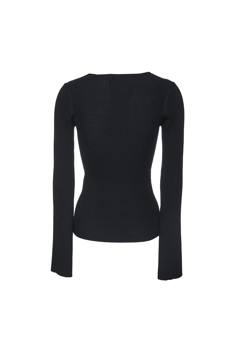 THE ST MORITZ WOOL FITTED VNECK KNIT 2