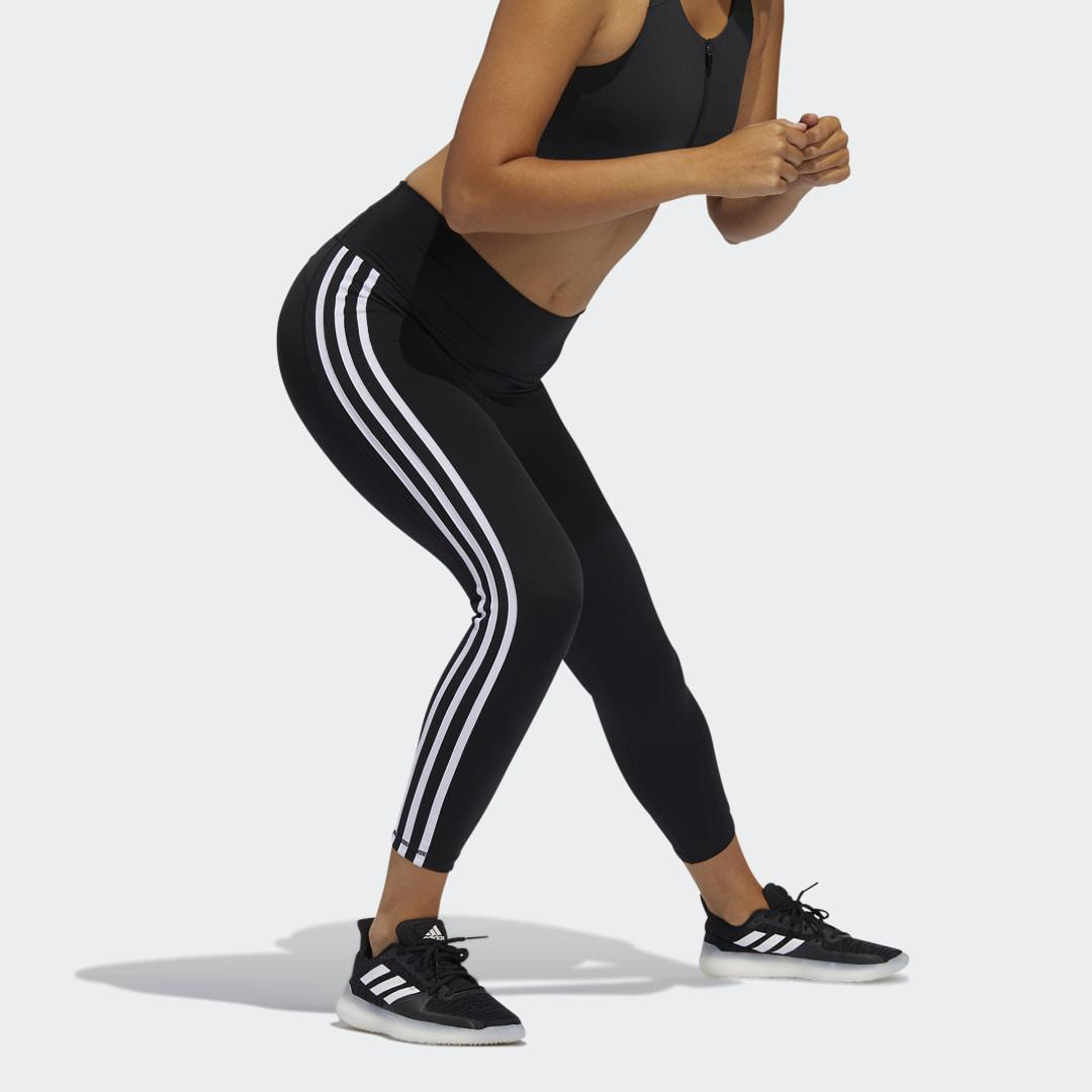 Believe This 2.0 3-Stripes 7/8 Tights Black 5