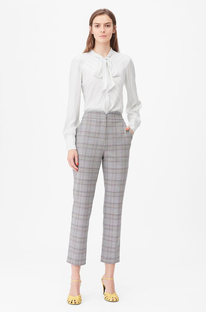 TAILORED PLAID SUITING NOTCH PANT