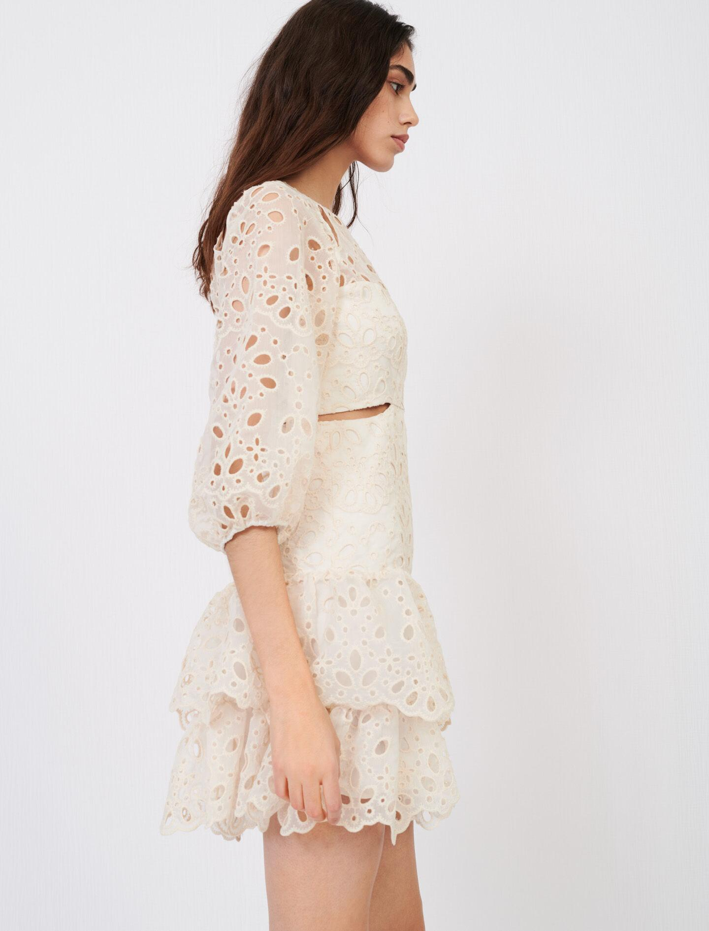 EYELET MINI DRESS WITH CUT-OUTS 2
