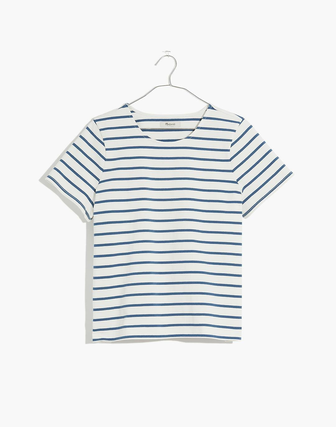 Luxe Boxy-Crop Tee in Atmore Stripe 4