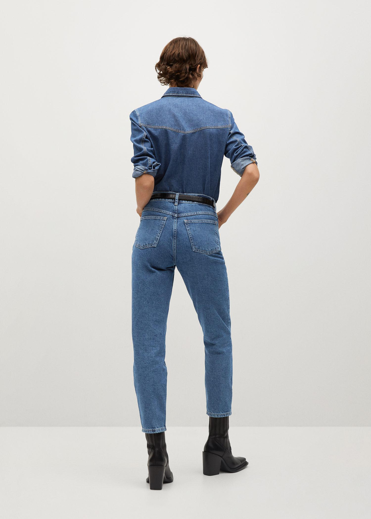 100% cotton mom-fit jeans 2
