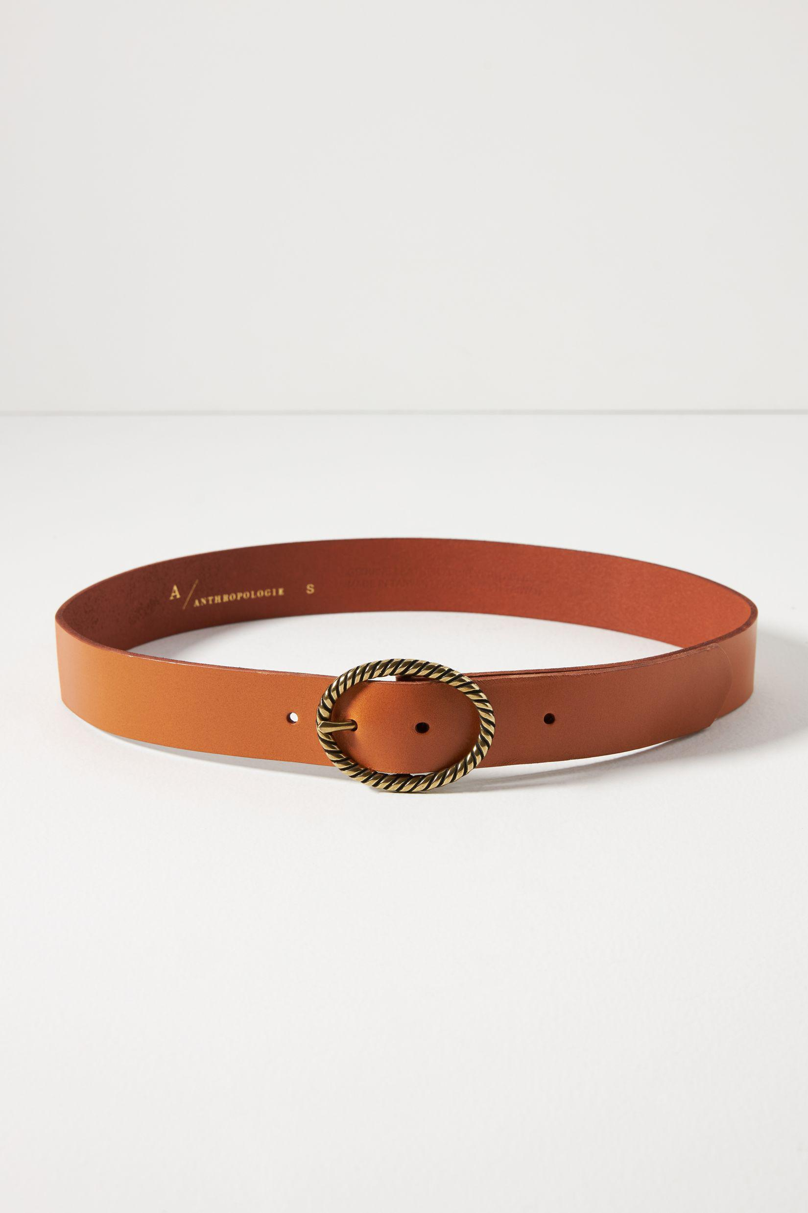 Twisted Oval Leather Belt