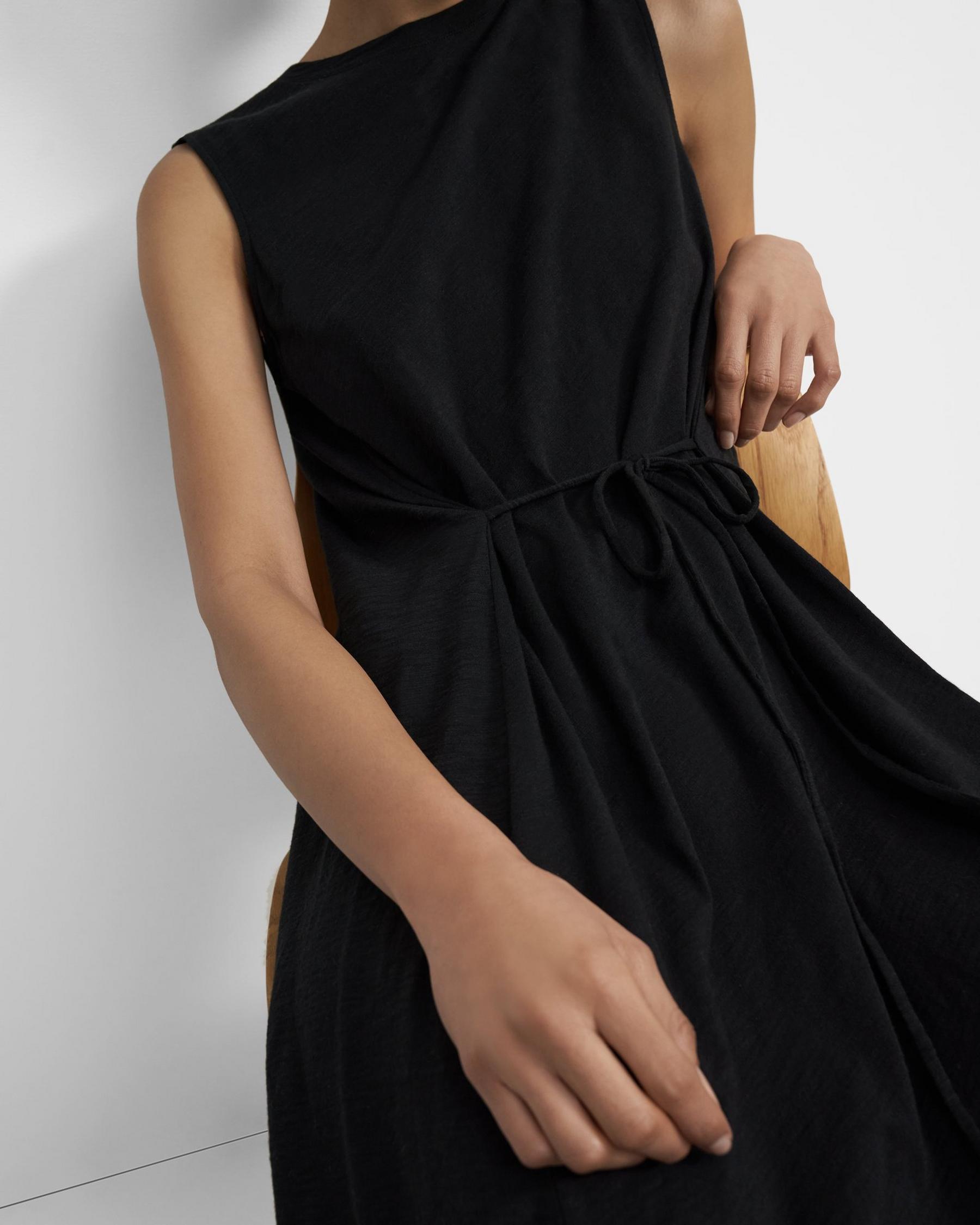 Cinched Tie Dress in Organic Cotton 1