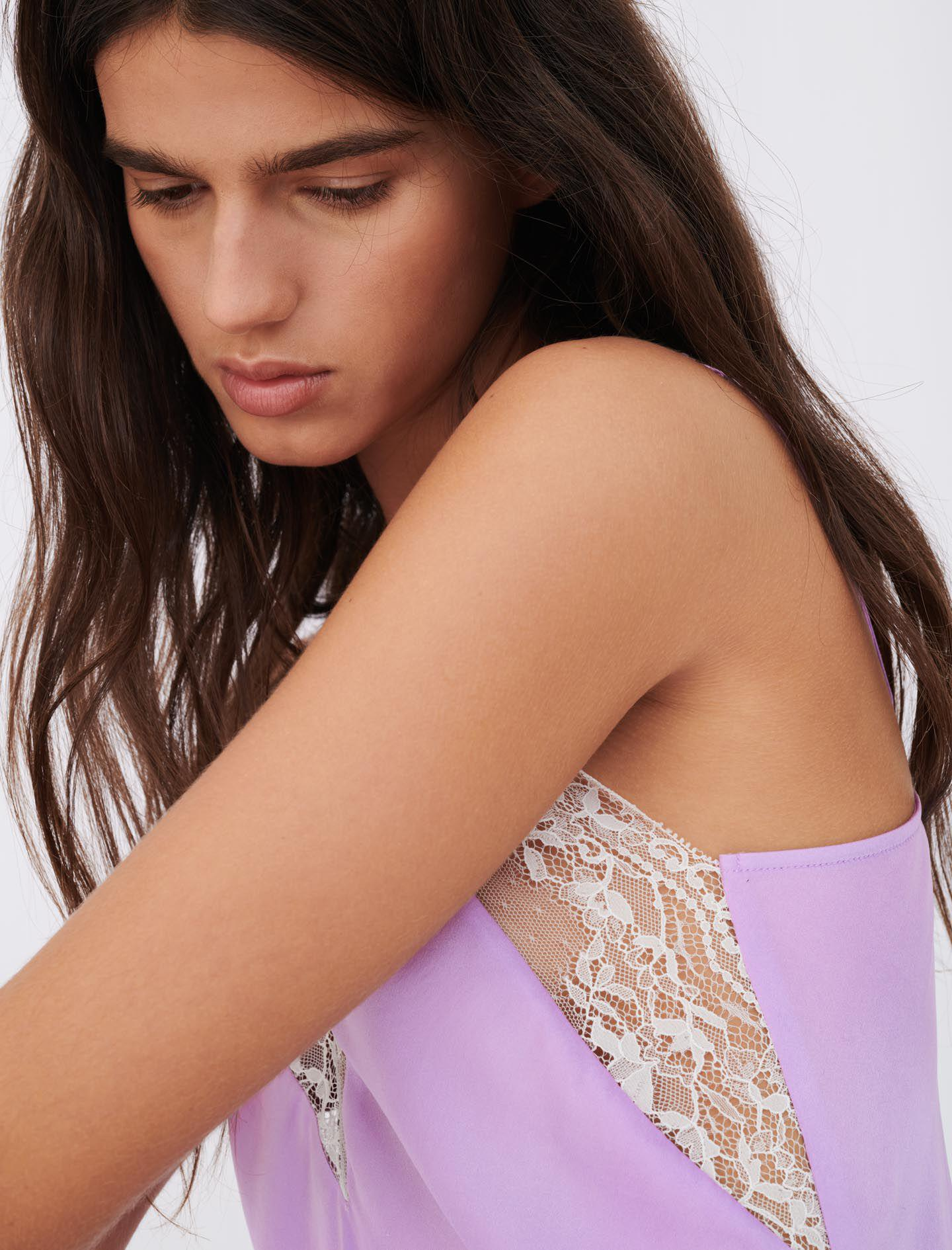 SILK SATIN AND LACE TOP 2
