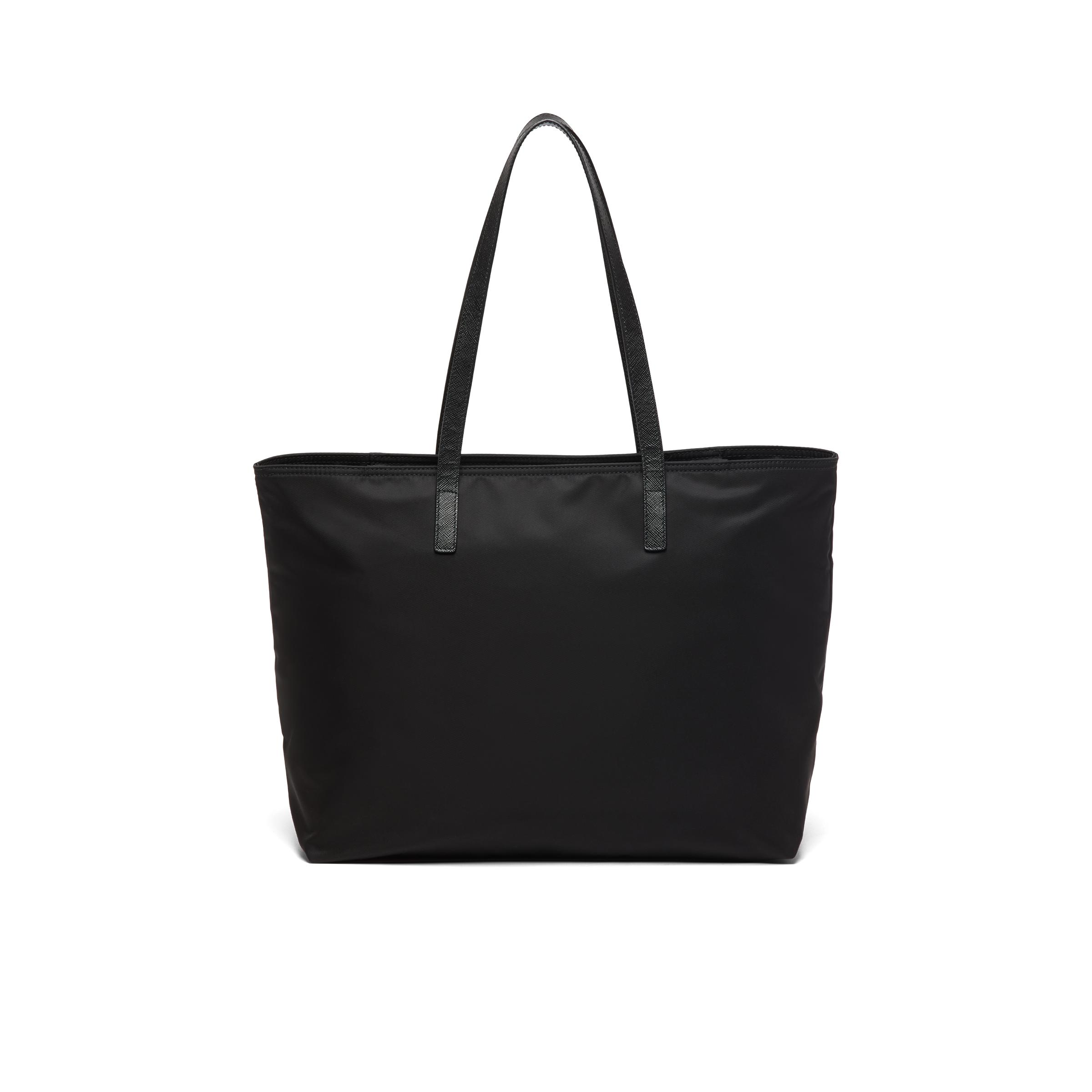 Nylon Tote With Embroidered Logo Women Black 3