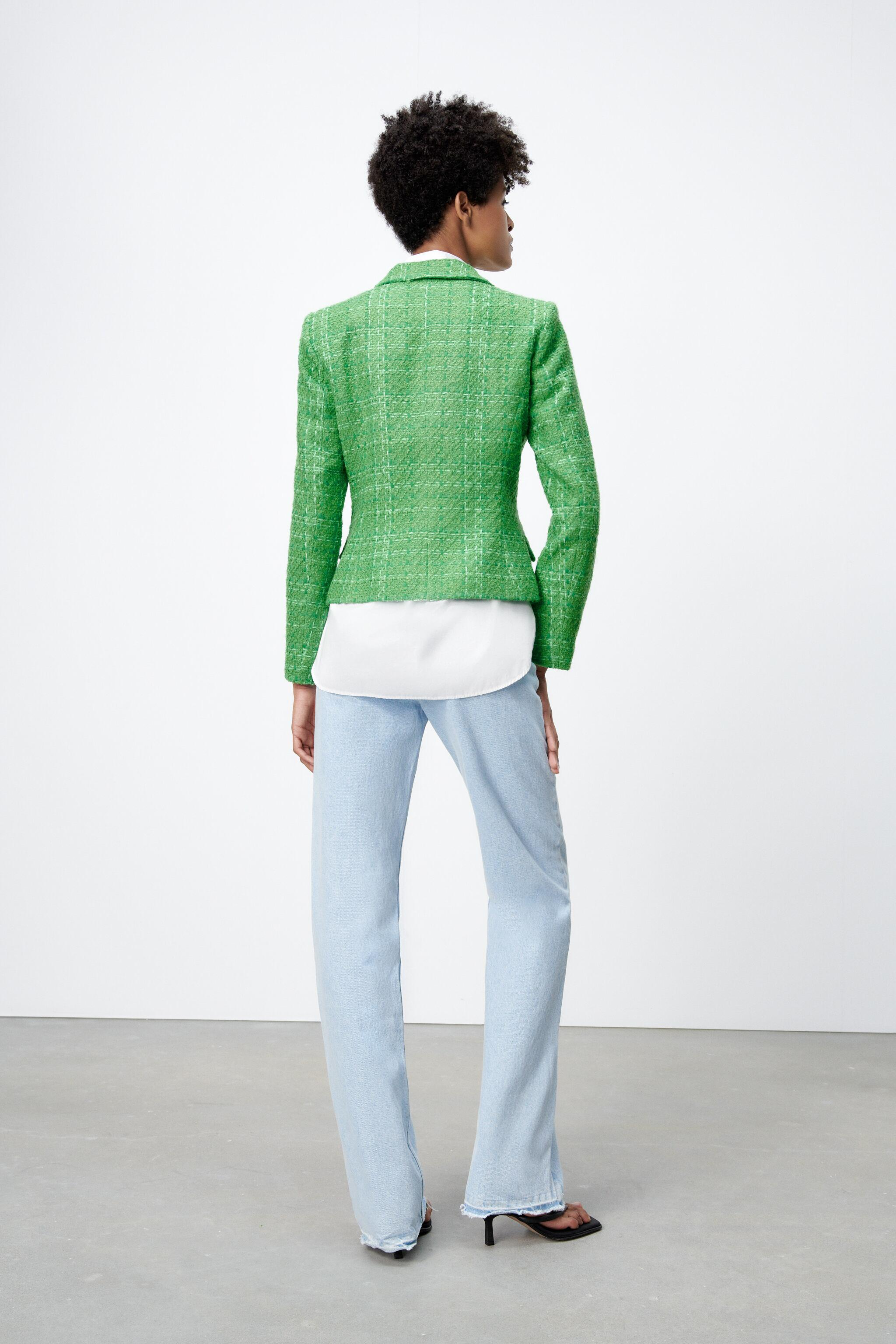 DOUBLE BREASTED TEXTURED WEAVE JACKET 3