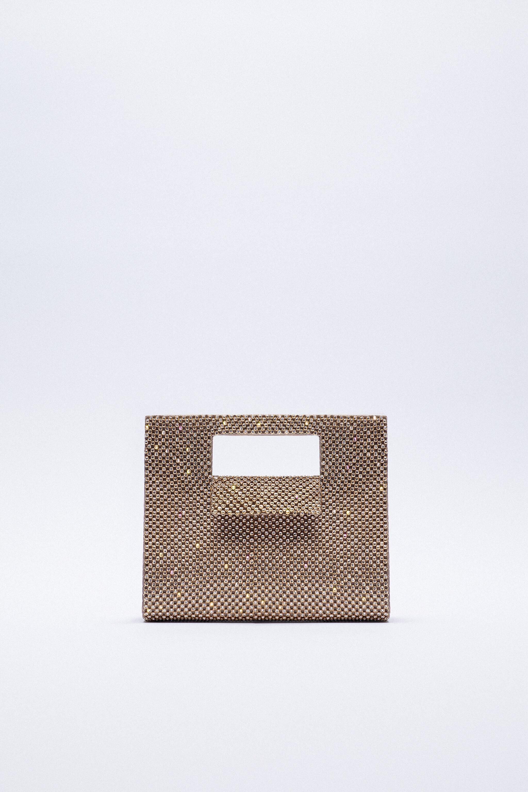 CUT OUT SHIMMERY BOX BAG