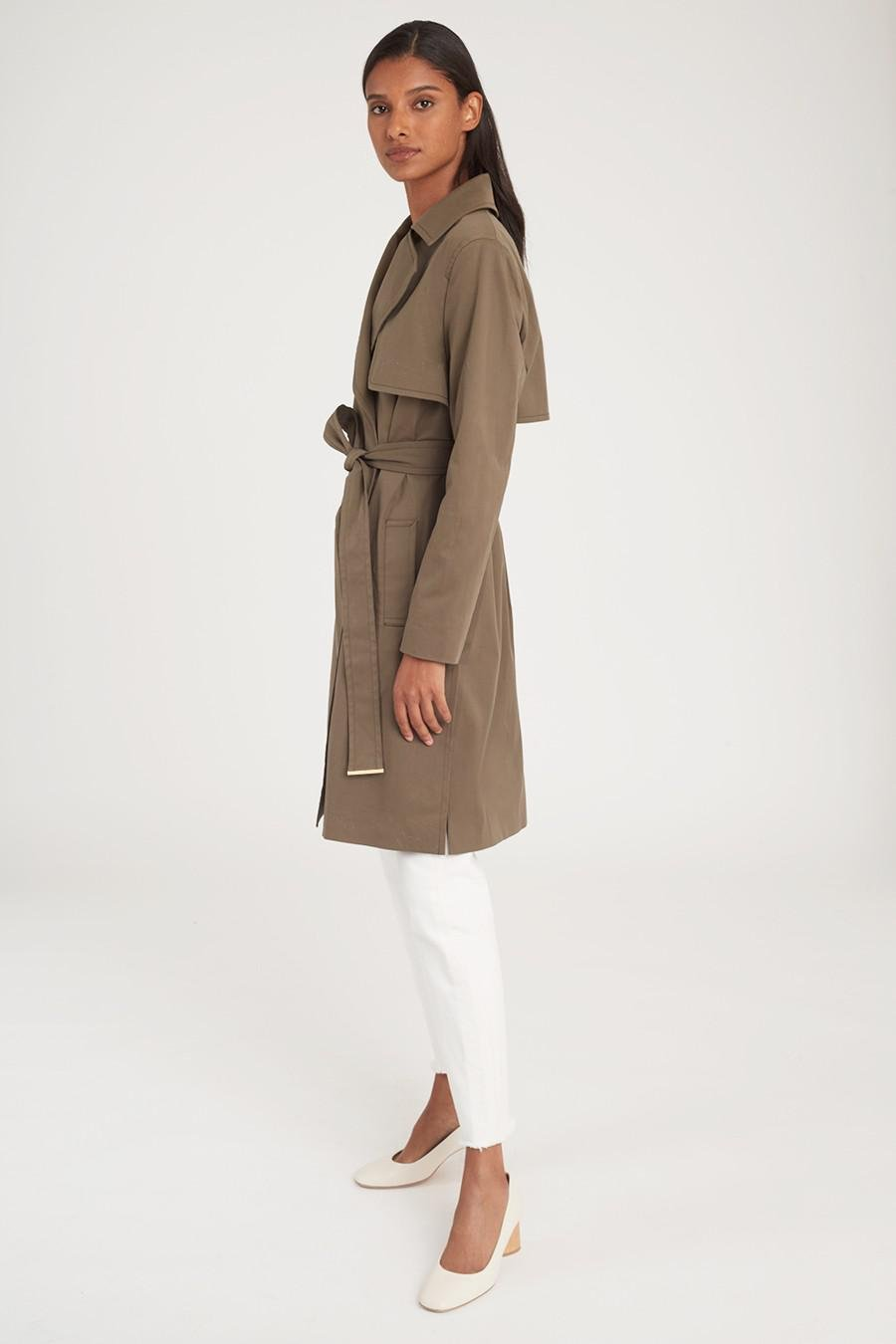 Women's Classic Trench in Olive | Size: 3