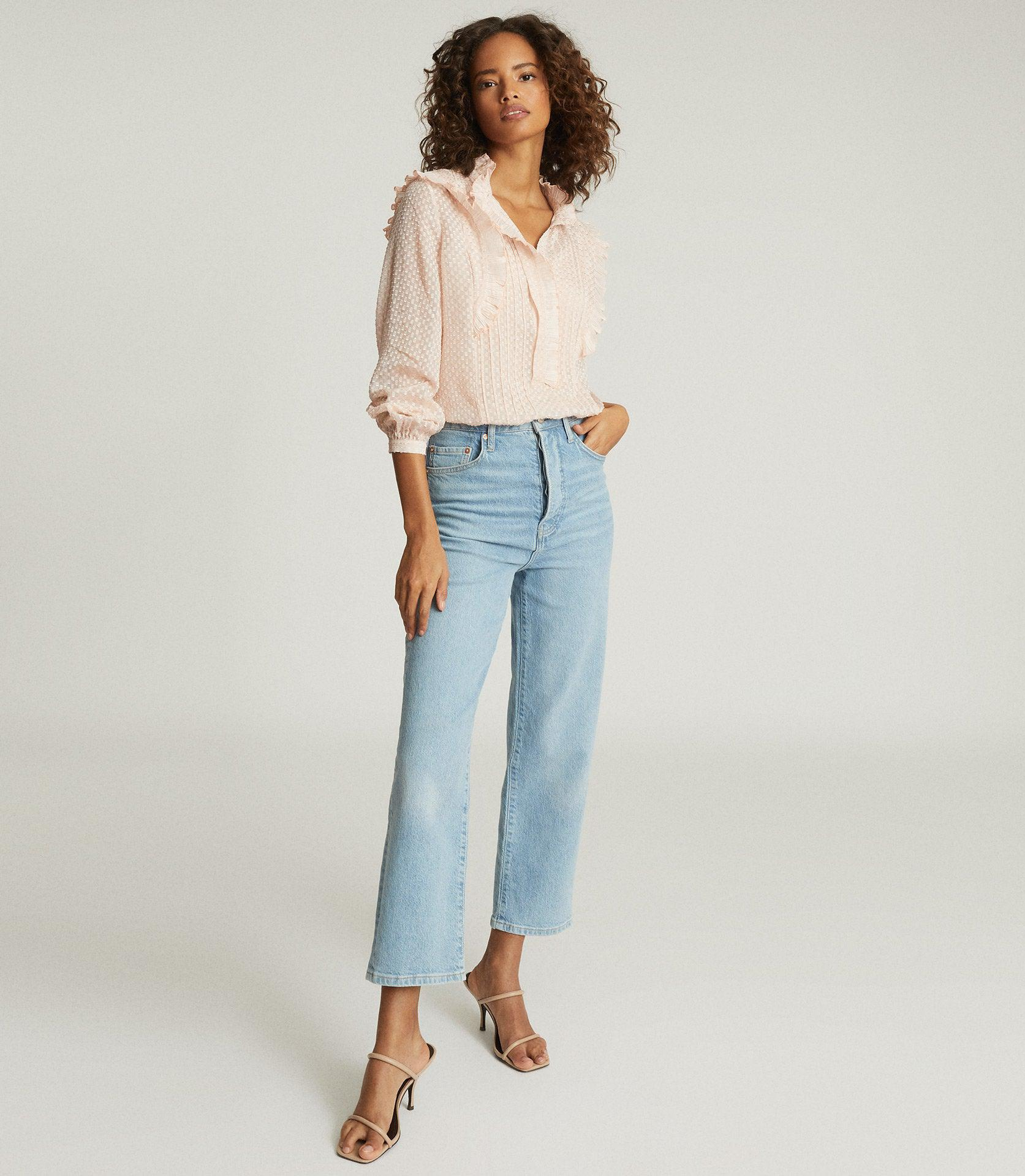 TAYLOR - RUFFLE DETAILED BLOUSE