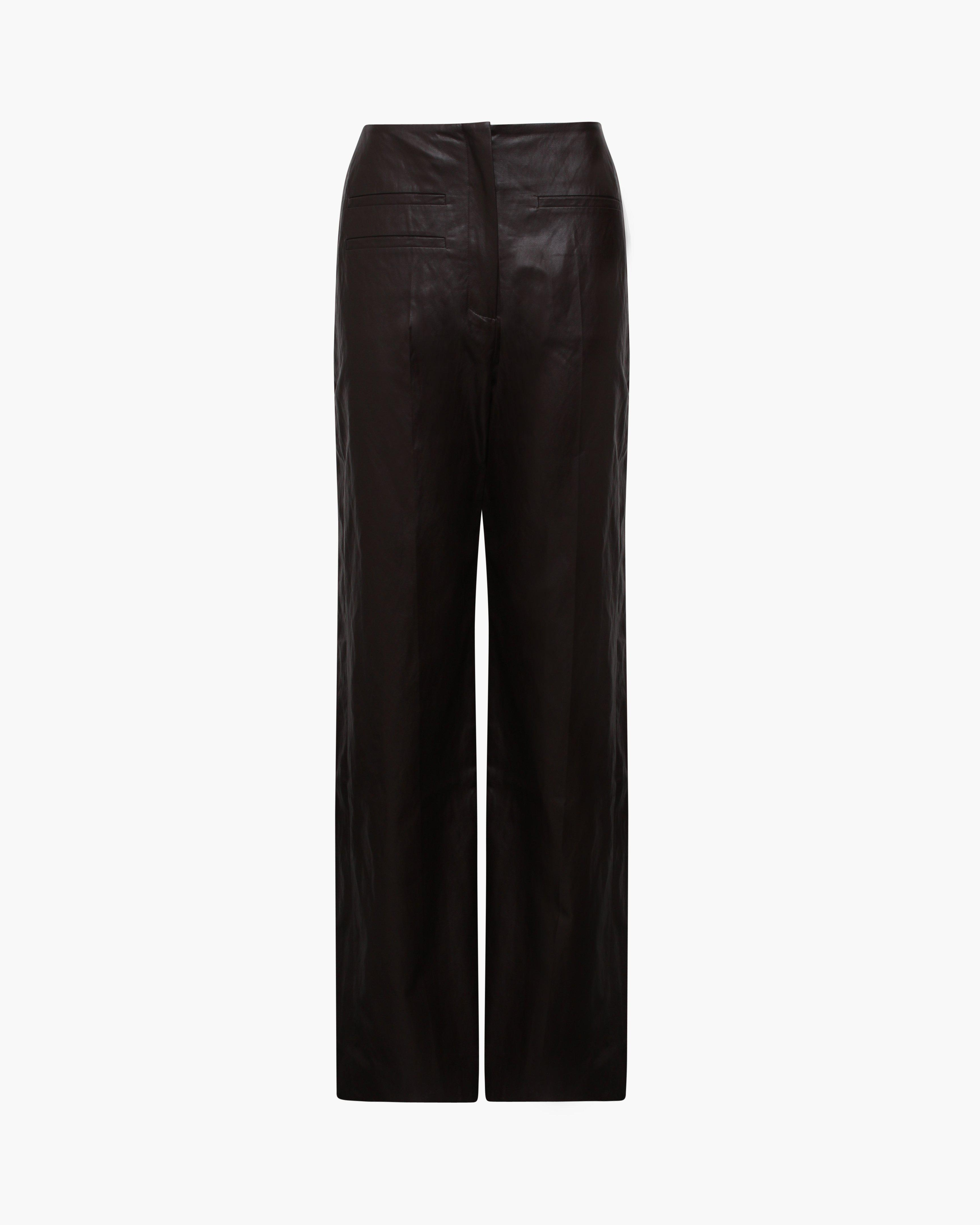 Lexi Trousers Faux Leather Brown 1