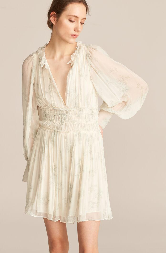 LONG SLEEVE TOILE RUCHED DRESS