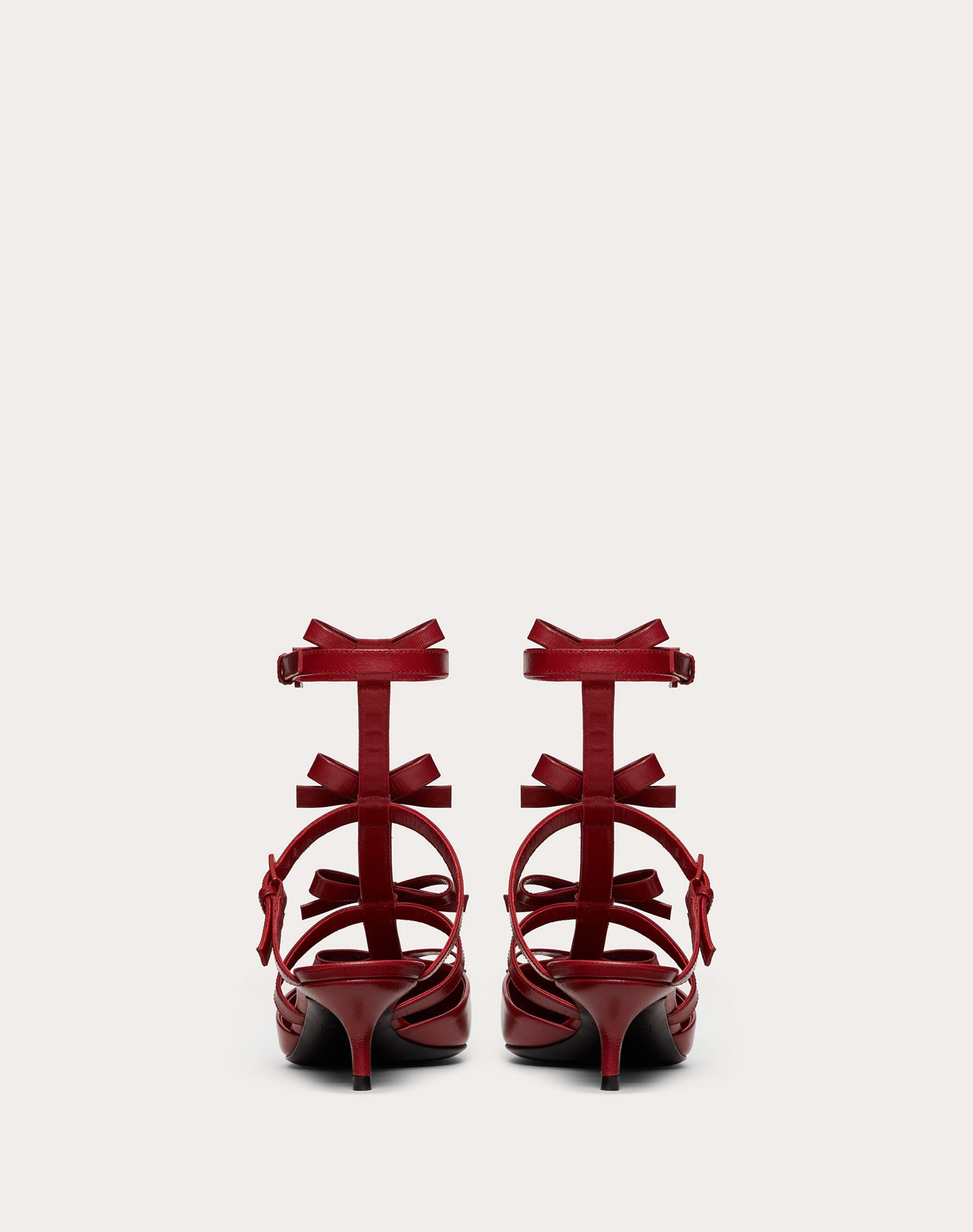 ANKLE STRAP PUMP WITH KIDSKIN FRENCH BOWS  40 MM 2