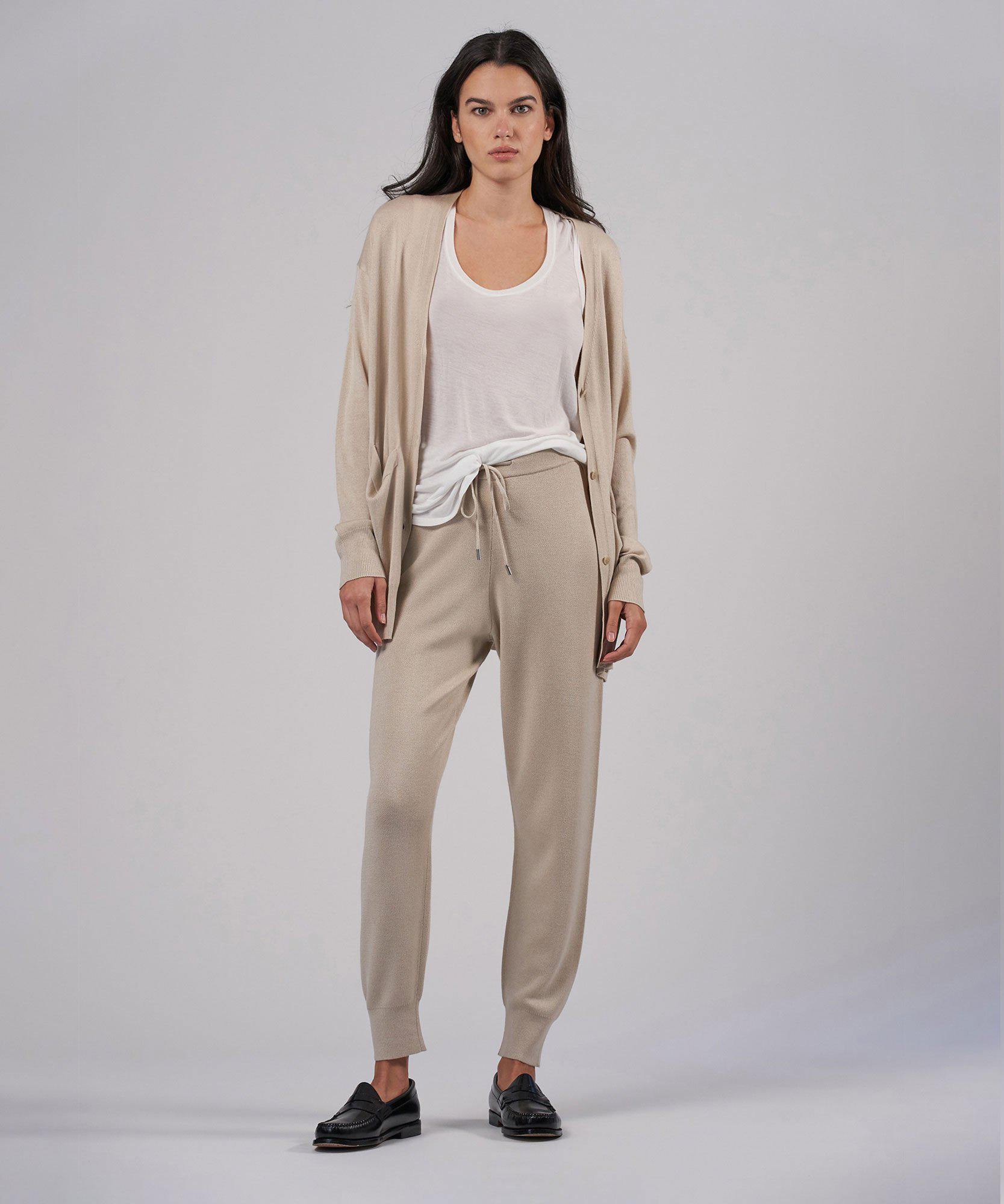 Cashmere Silk Pull-On Pant - Canvas 3
