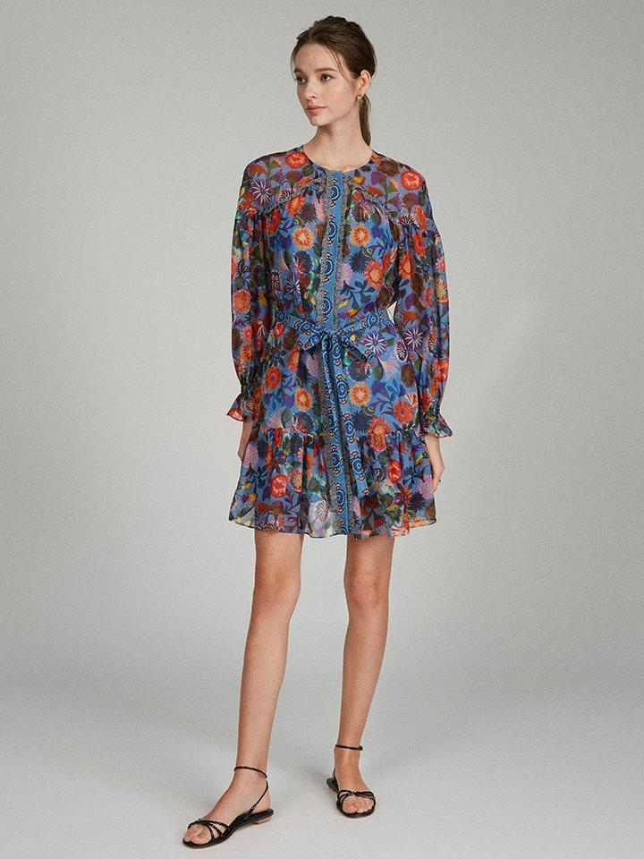 Pixie Dress in Floral Adorning print