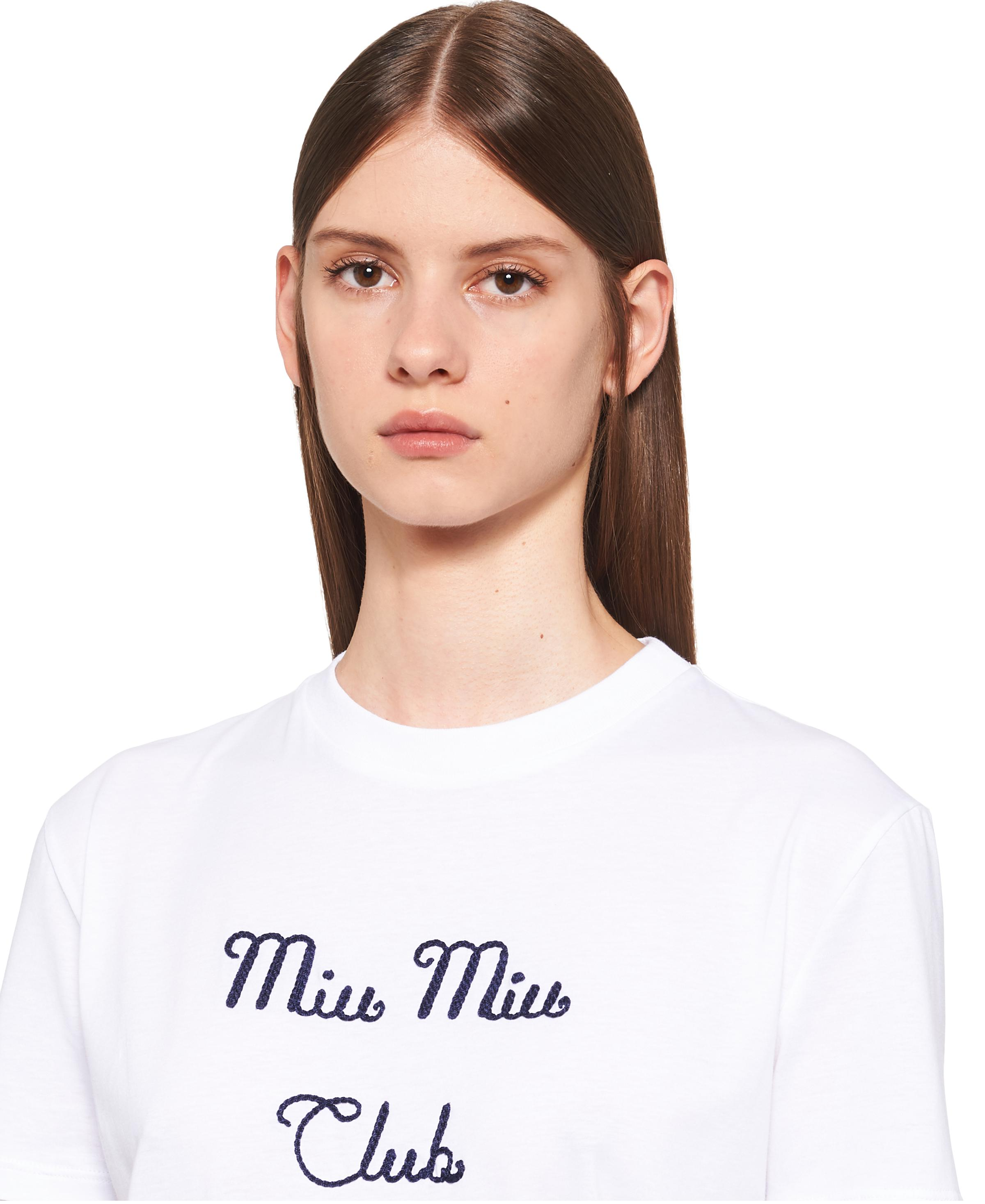 Embroidered Jersey T-shirt Women White 4