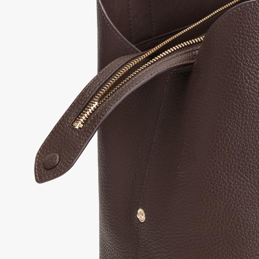 Women's Zippered Satchel Bag in Chocolate | Pebbled Leather by Cuyana 2