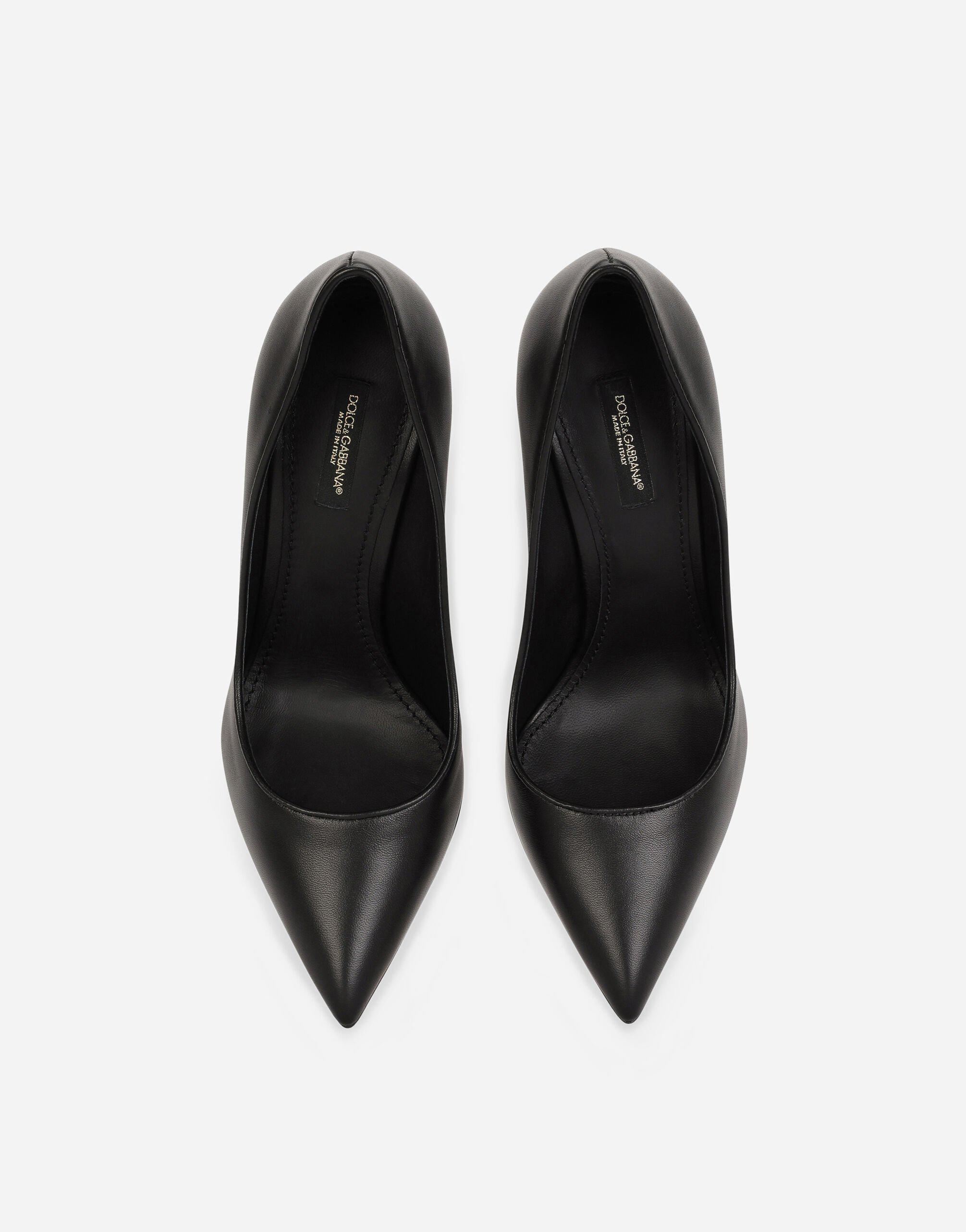 Nappa leather pumps with DG heel 3