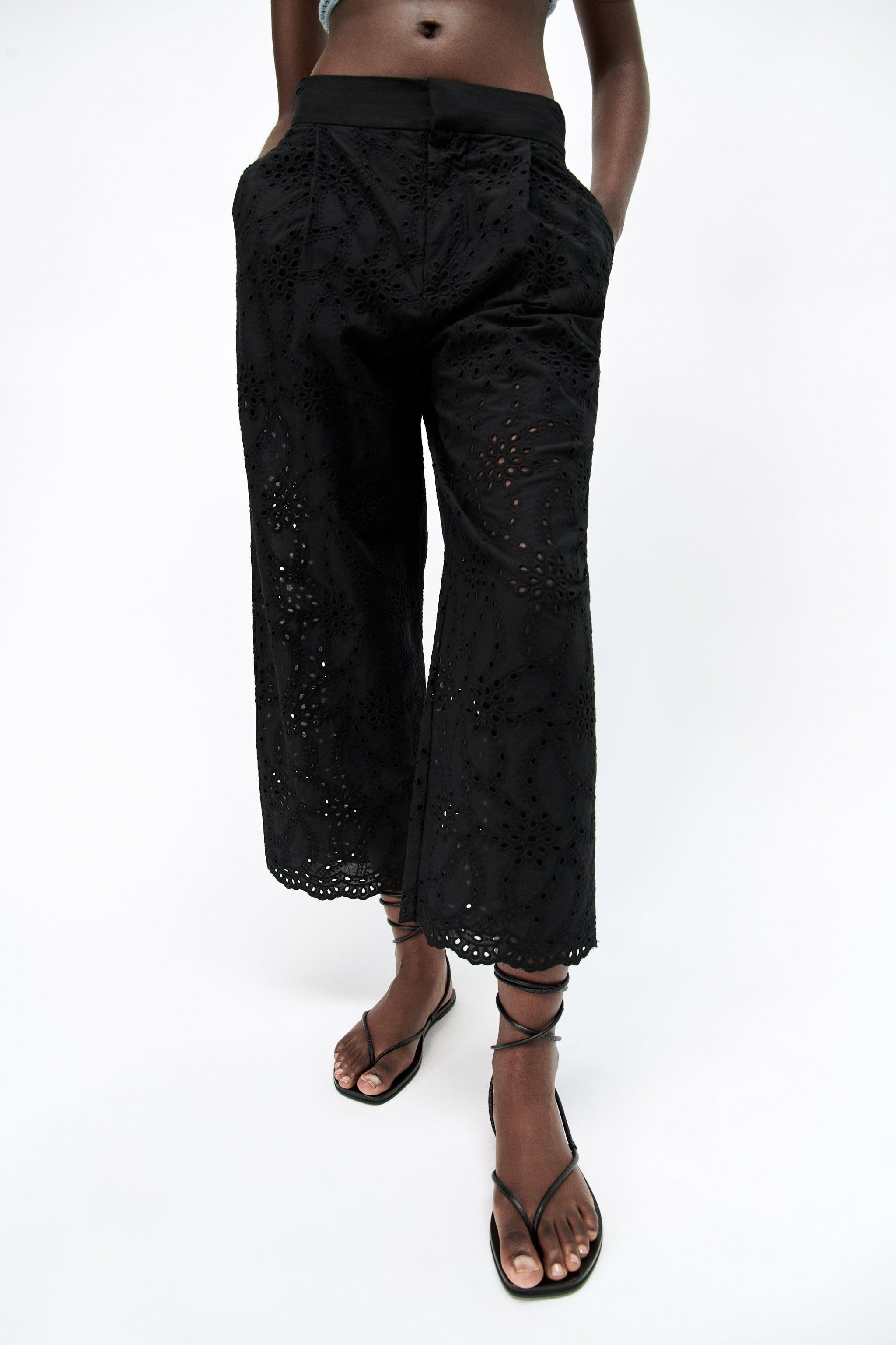PANTS WITH OPENWORK EMBROIDERY 1