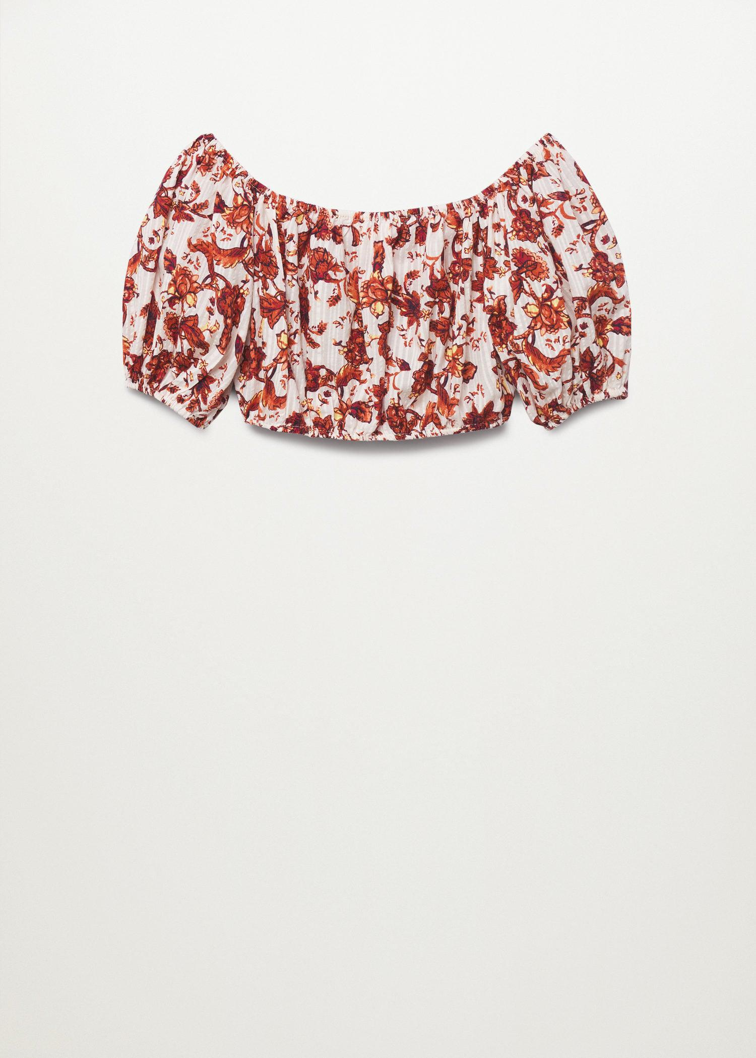 Printed cotton top 7